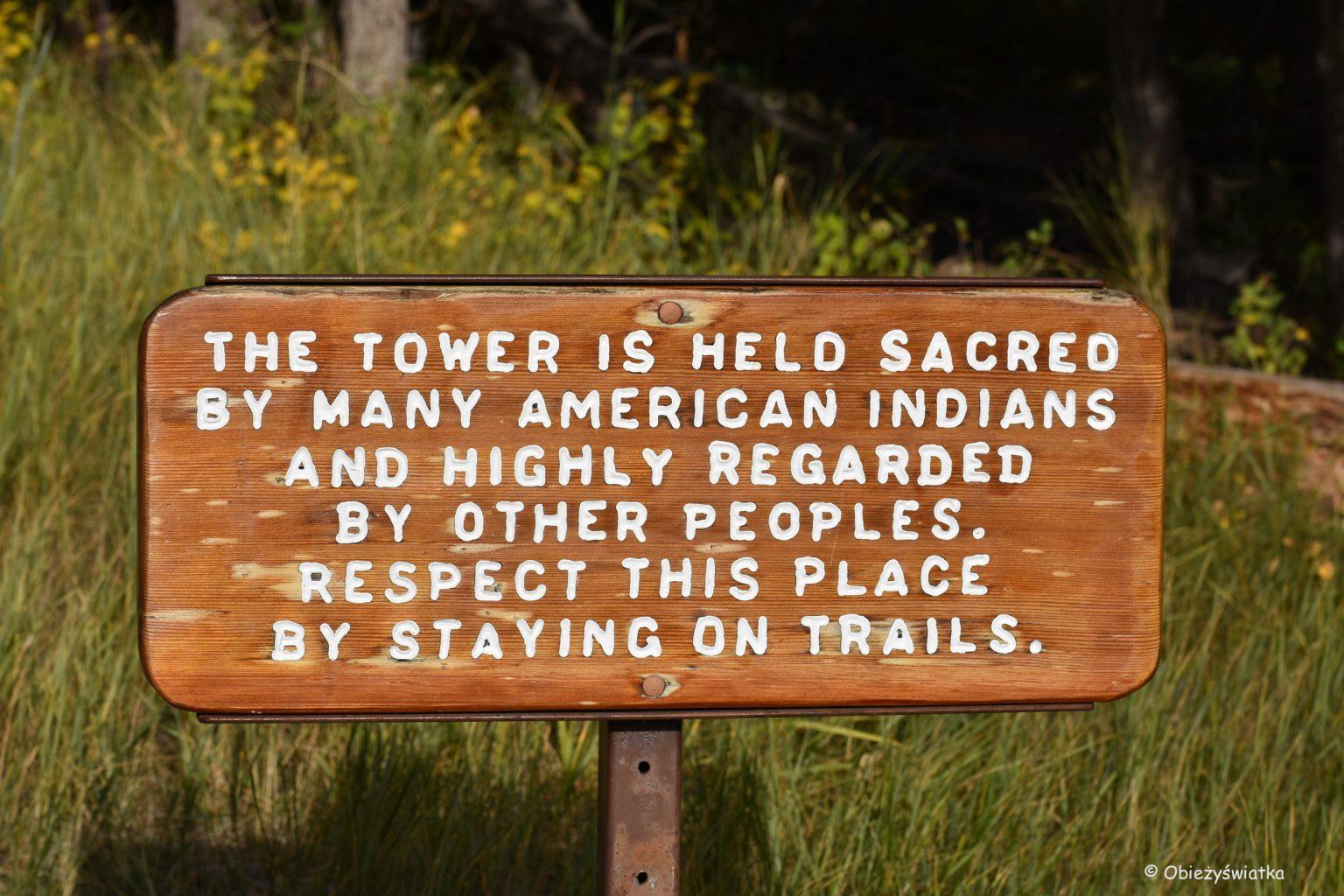 Święta góra - Devils Tower National Monument, Wyoming, USA