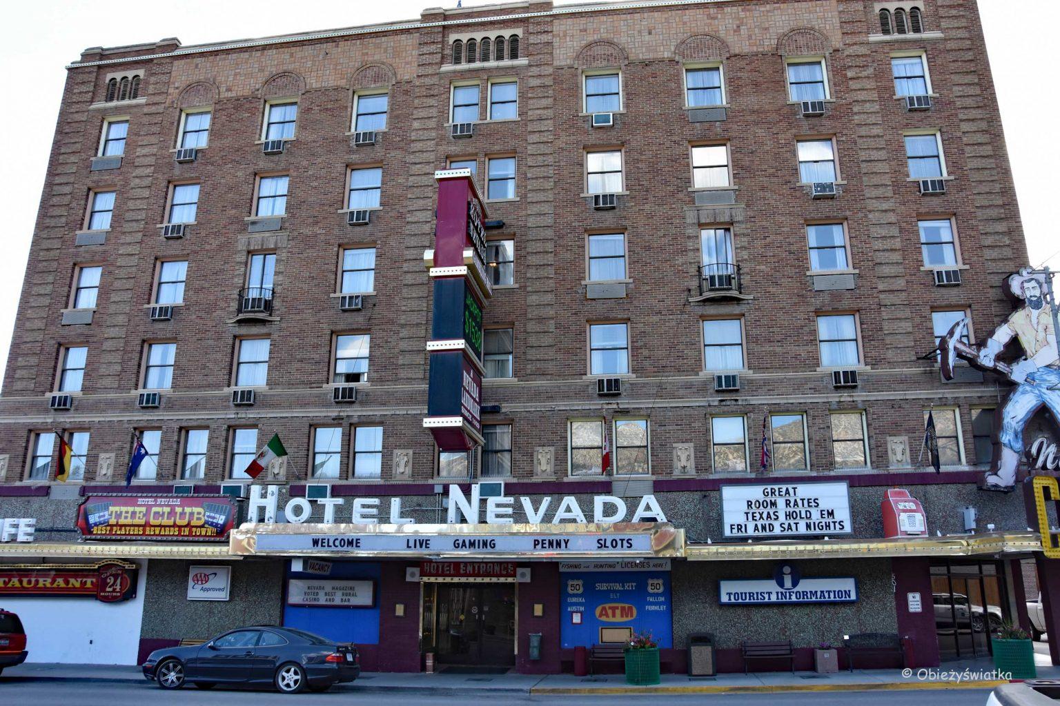 Słynny hotel Nevada w Ely