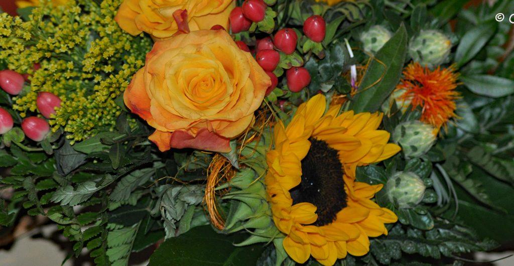 Bukiet kwiatów dla niej