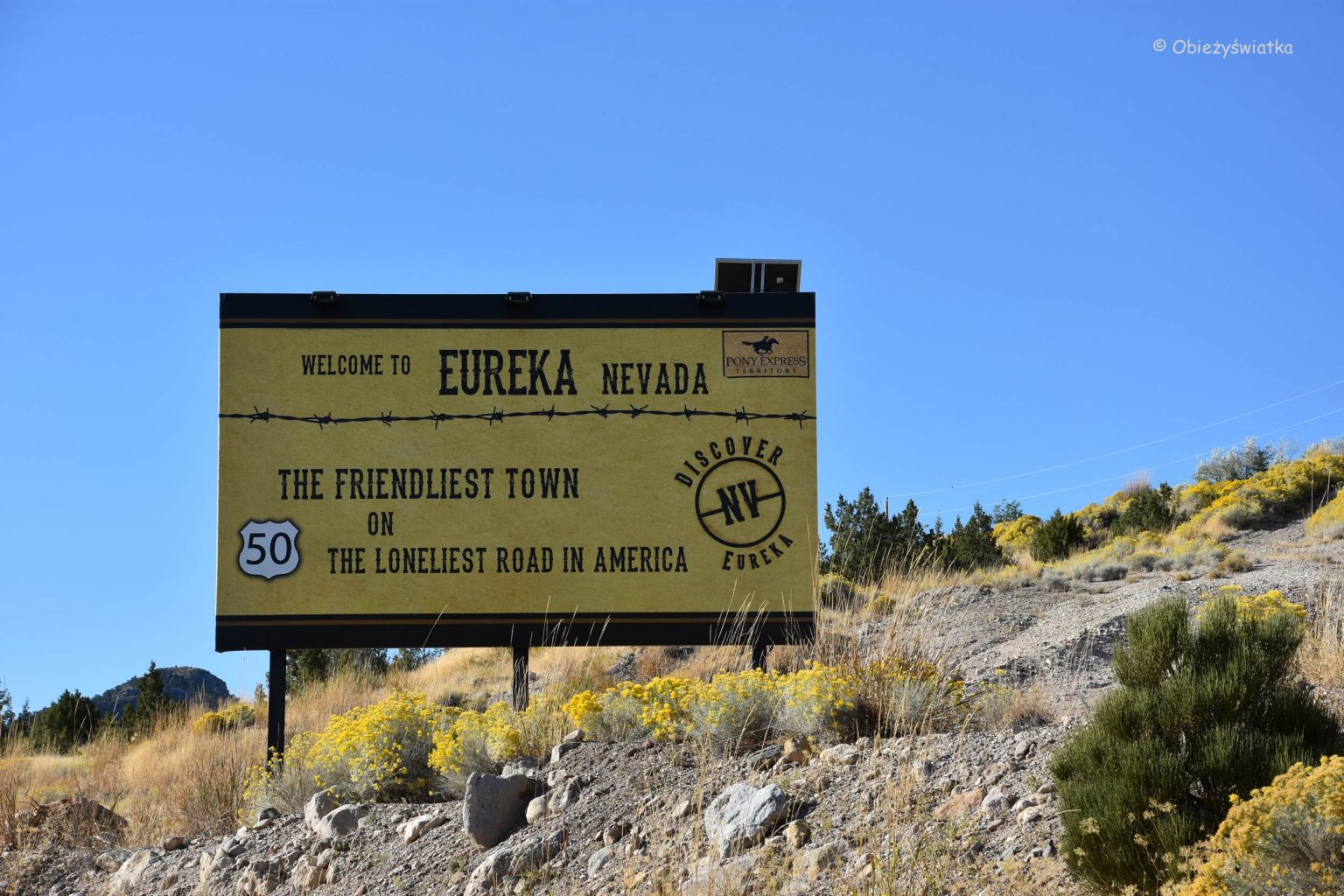 Welcome to Eureka in Nevada