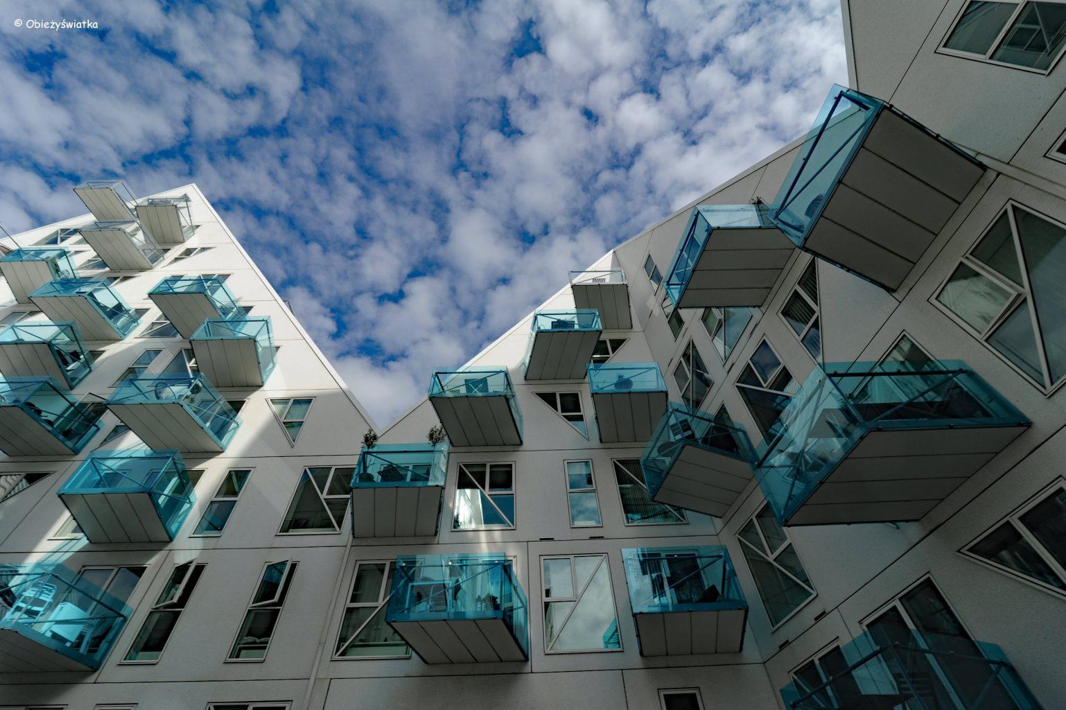 Isbjerget, widok z podwórza, Aarhus, Dania