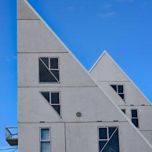 Złamane dachy Isbjerget, Aarhus, Dania