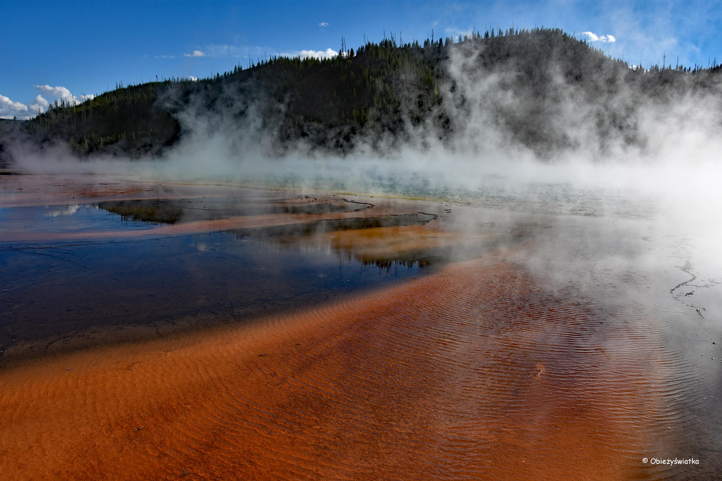 Bajeczny krajobraz - Grand Prismatic Spring w Parku Narodowym Yellowstone