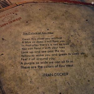 Poezja na ulicach Key West