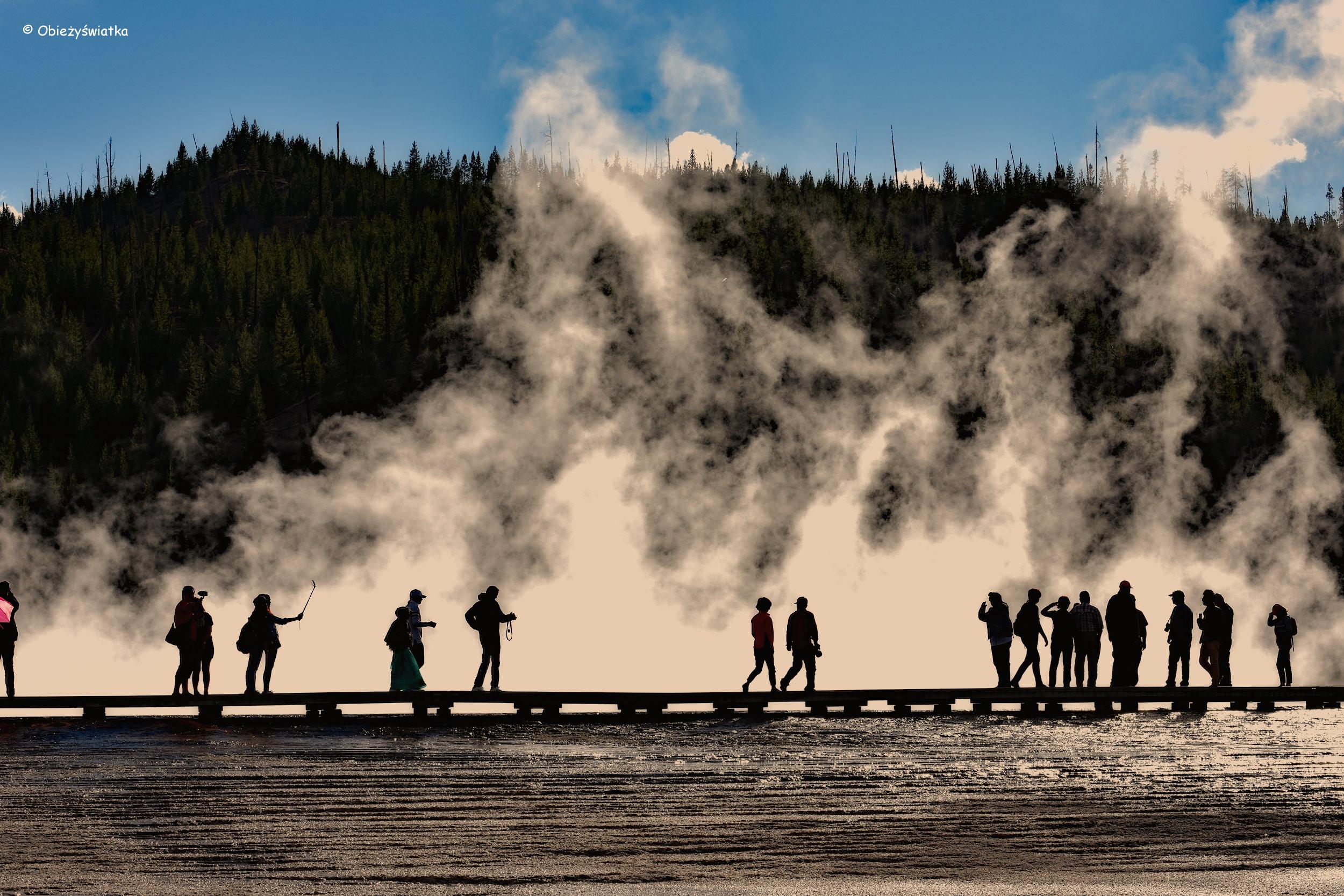 Kładka wokół Grand Prismatic Spring, Park Narodowy Yellowstone