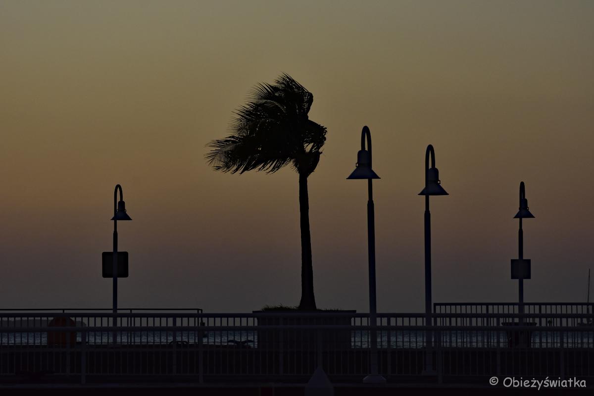 Zachód słońca, przystań w Key West