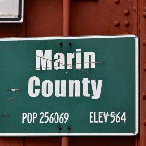Marin County, szyld na moście Golden Gate