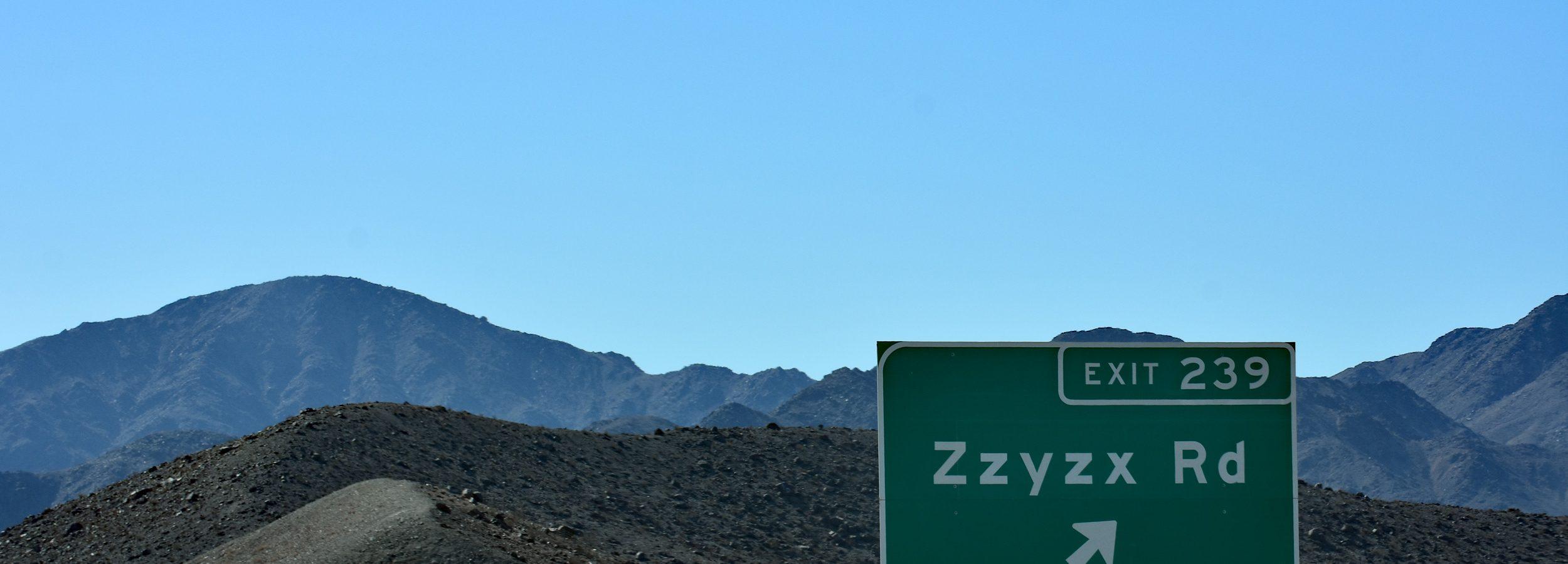 Zzyzx Rd, Kalifornia