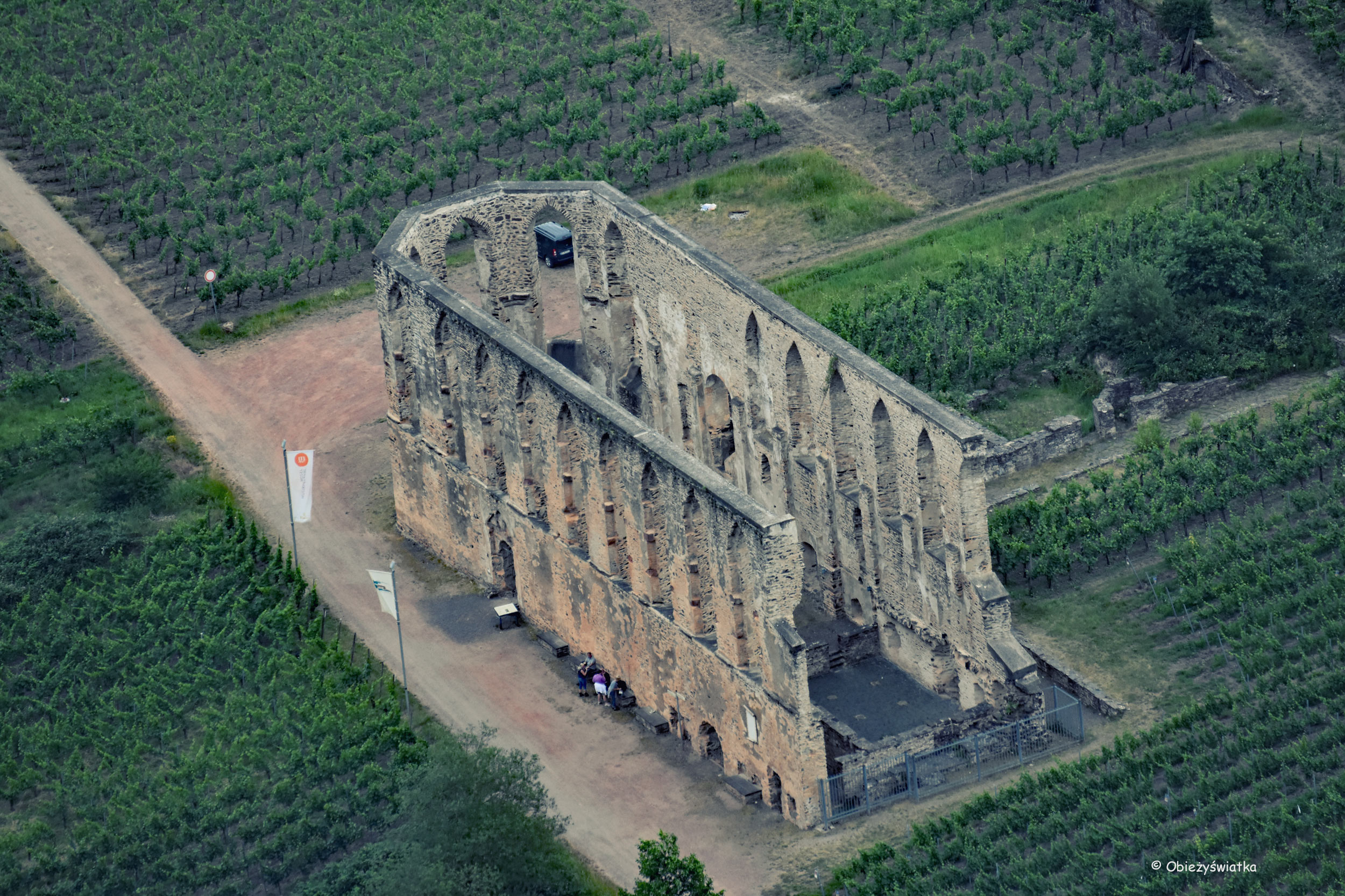 Ruiny klasztoru Stuben sióstr Augustianek nad Mozelą