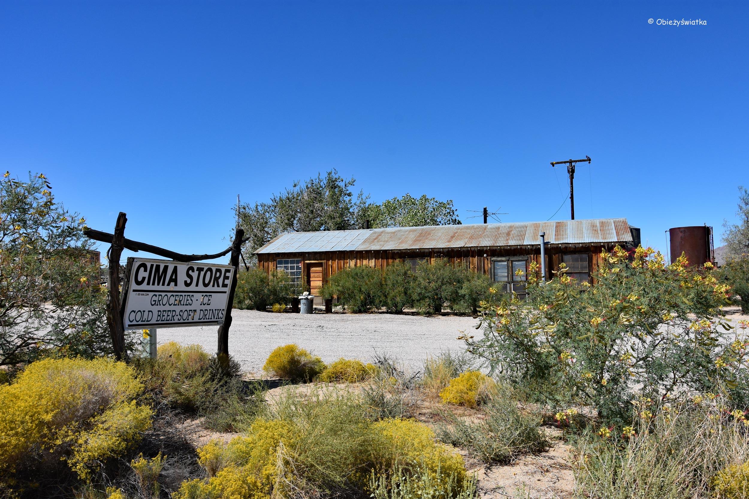 Cima Store - w opuszczonej osadzie na Pustyni Mojave