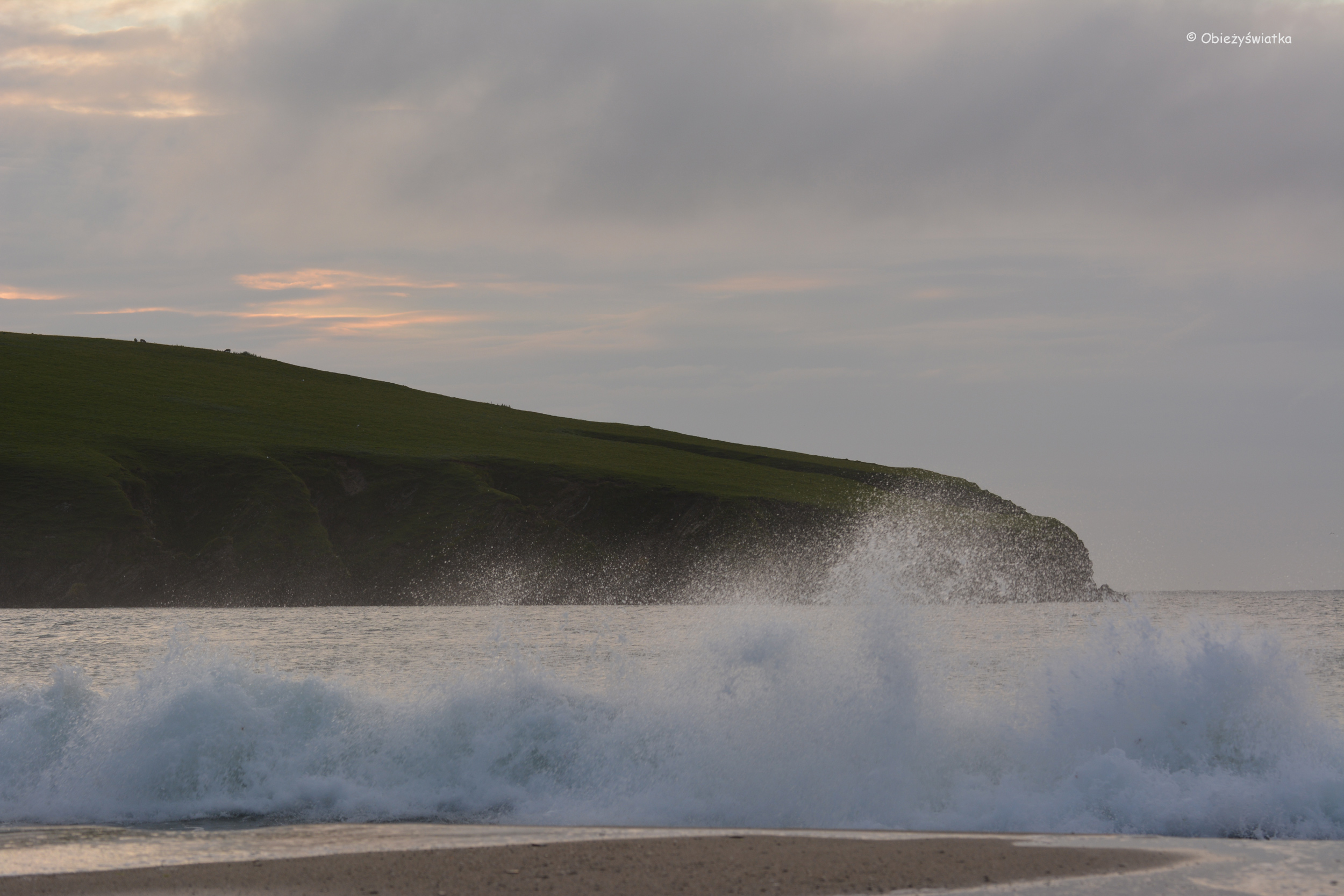 St Ninian's Isle tuż przed zmrokiem