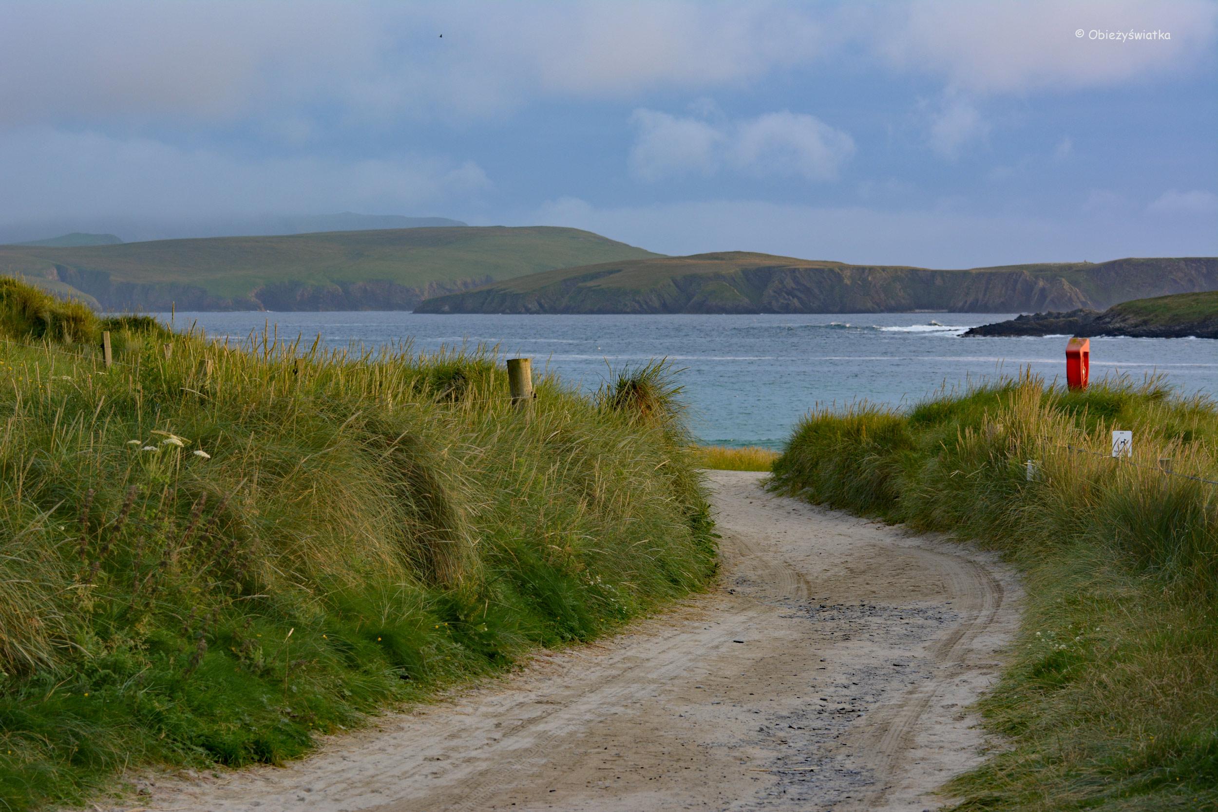 Droga na brzeg, Wyspy Szetlandzkie, Szkocja
