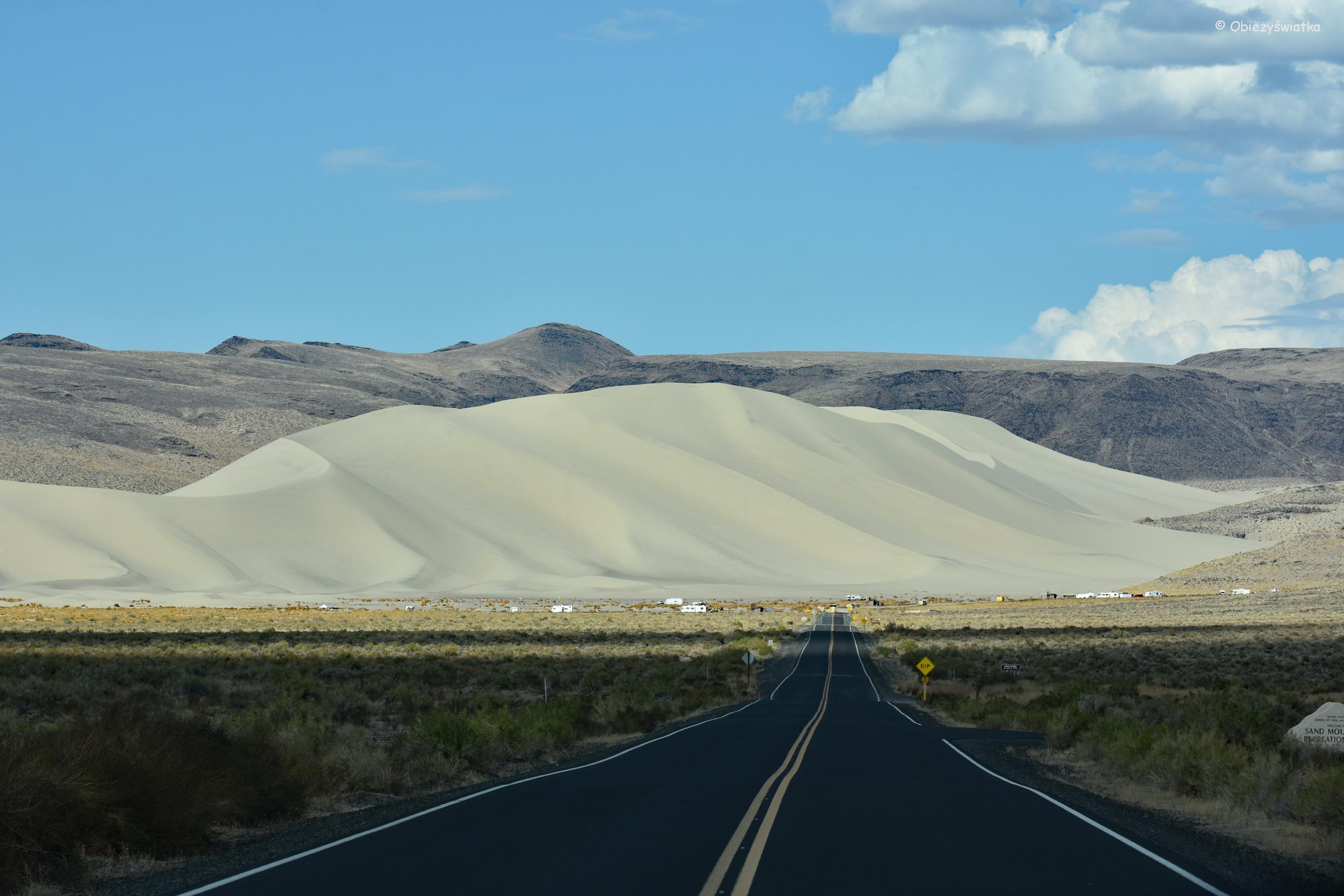 Wydmy na Highway 50, Nevada / Sand Mountain Nevada
