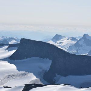 Jotunheimen - widok z Galdhopiggen