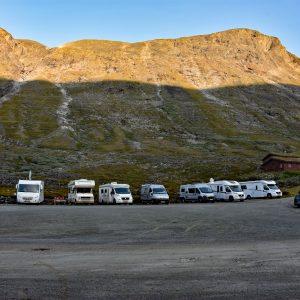 Plac dla kamperów - schronisko Spiterstulen