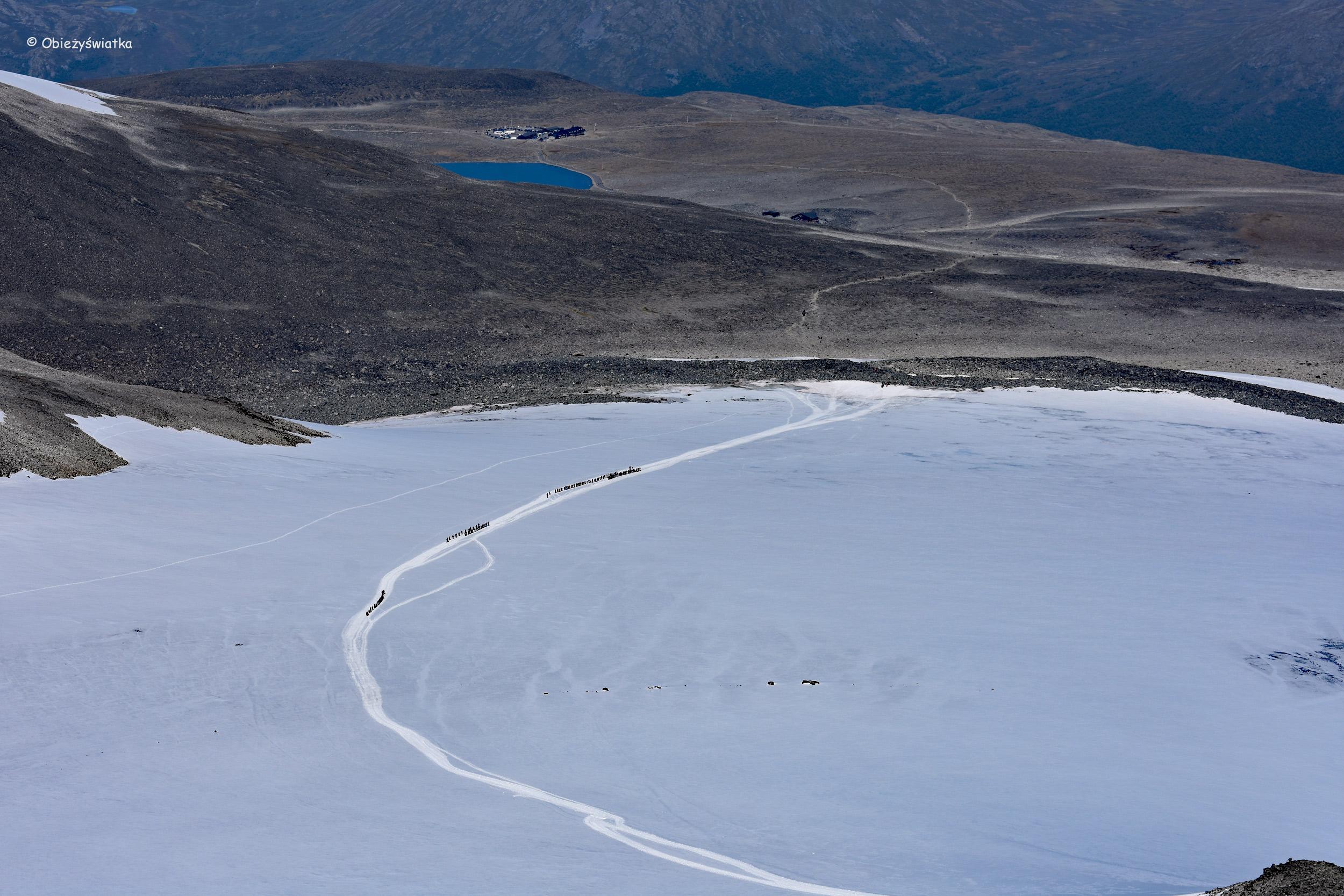 Szlak na Galdhopiggen po lodowcu