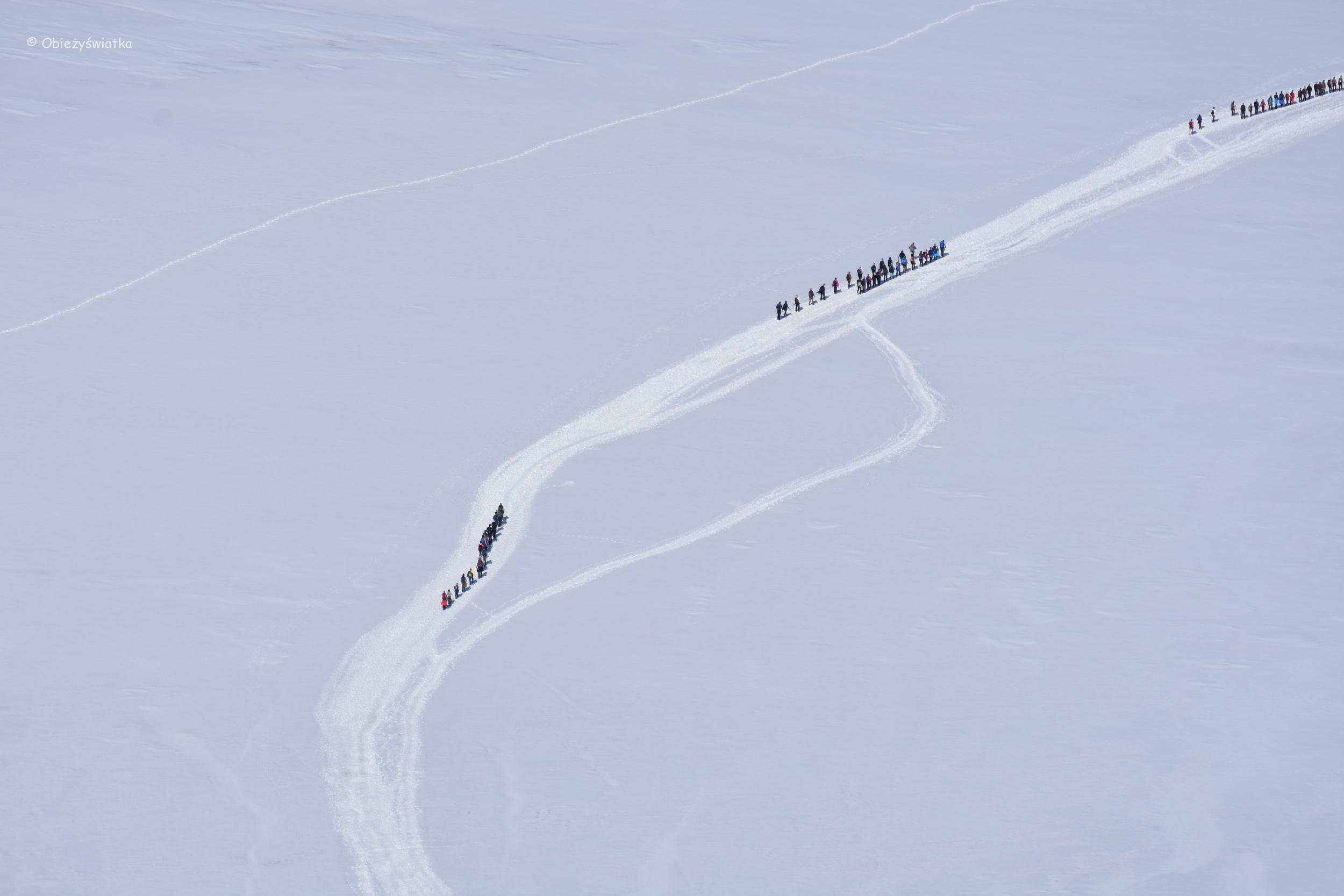 Wędrówka po lodowcu na Galdhopiggen