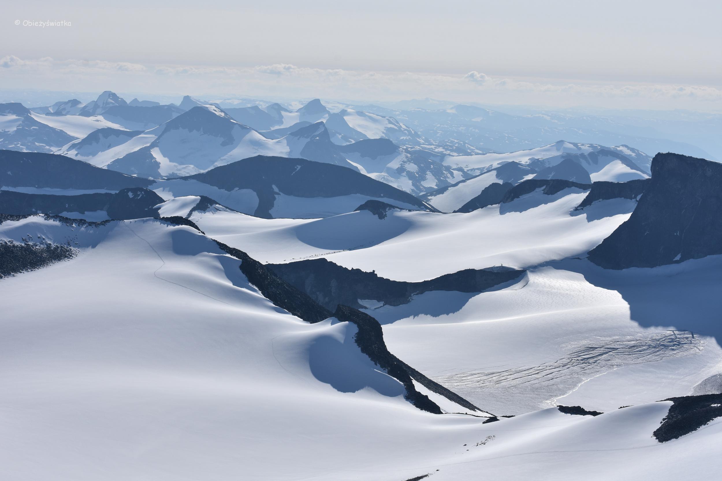 Widok ze szczytu Galdhopiggen