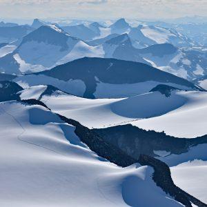 Widok ze szczytu - Jotunheimen