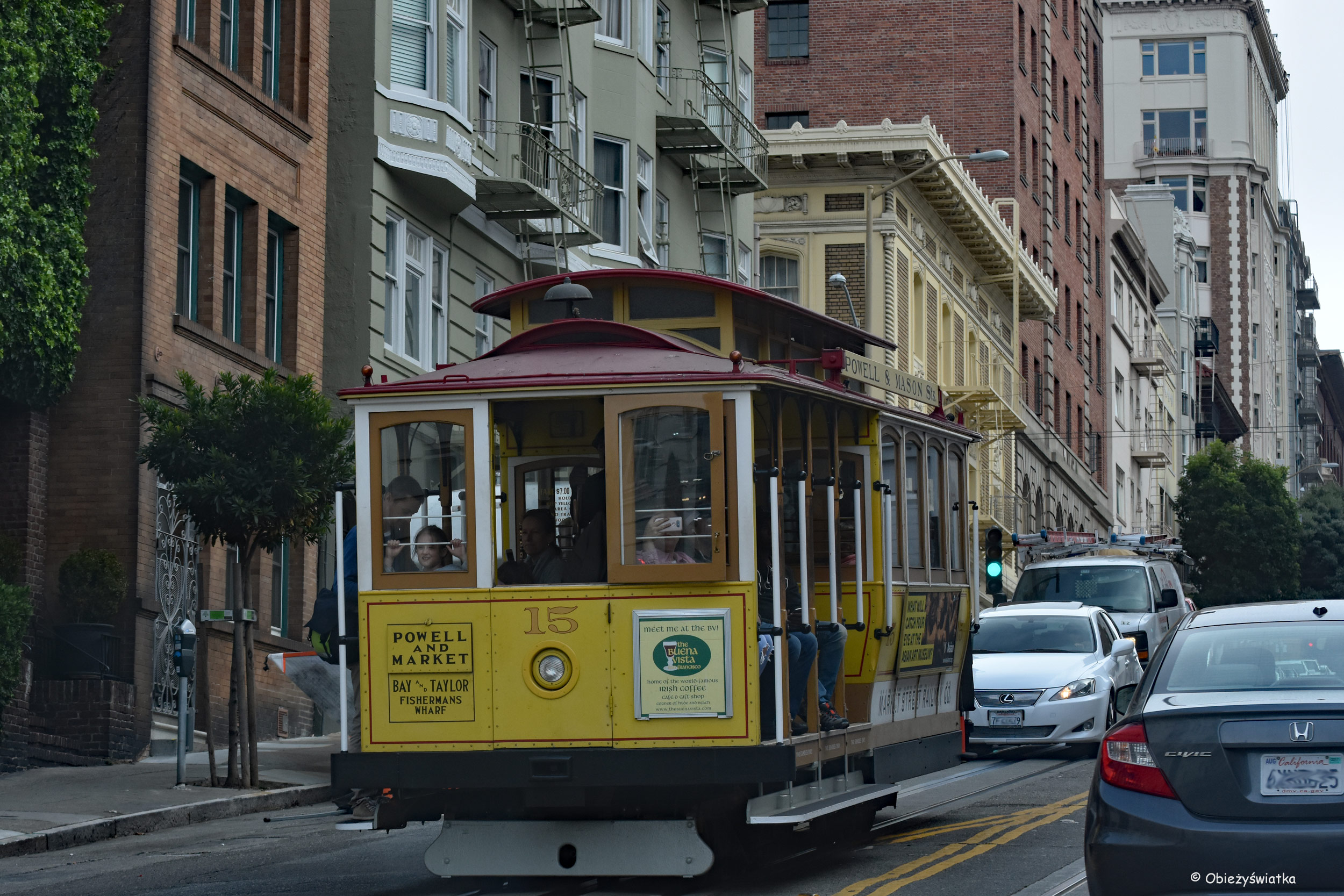 Tamwaj linowy - Cable Car w San Francisco