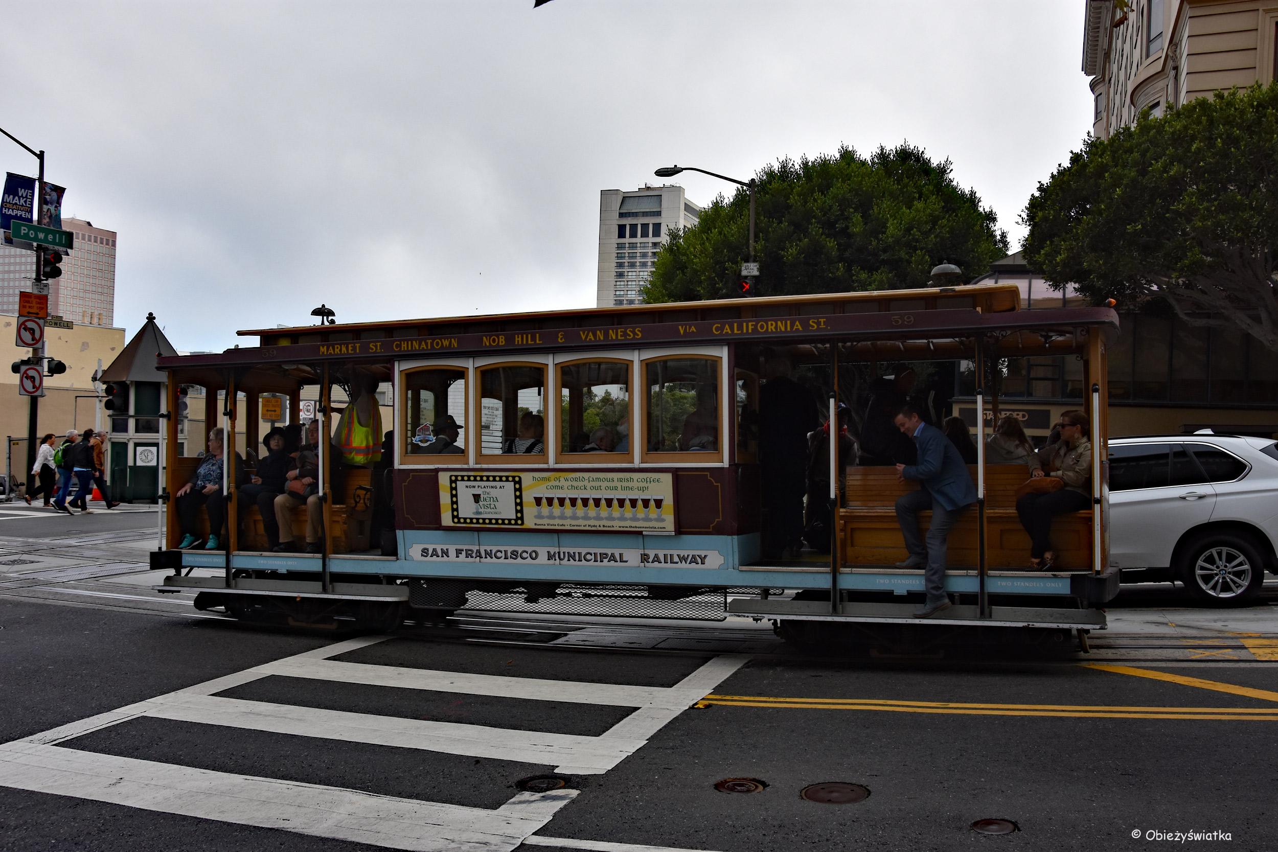 Tamwaj linowy - Cable Car na ulicach San Francisco