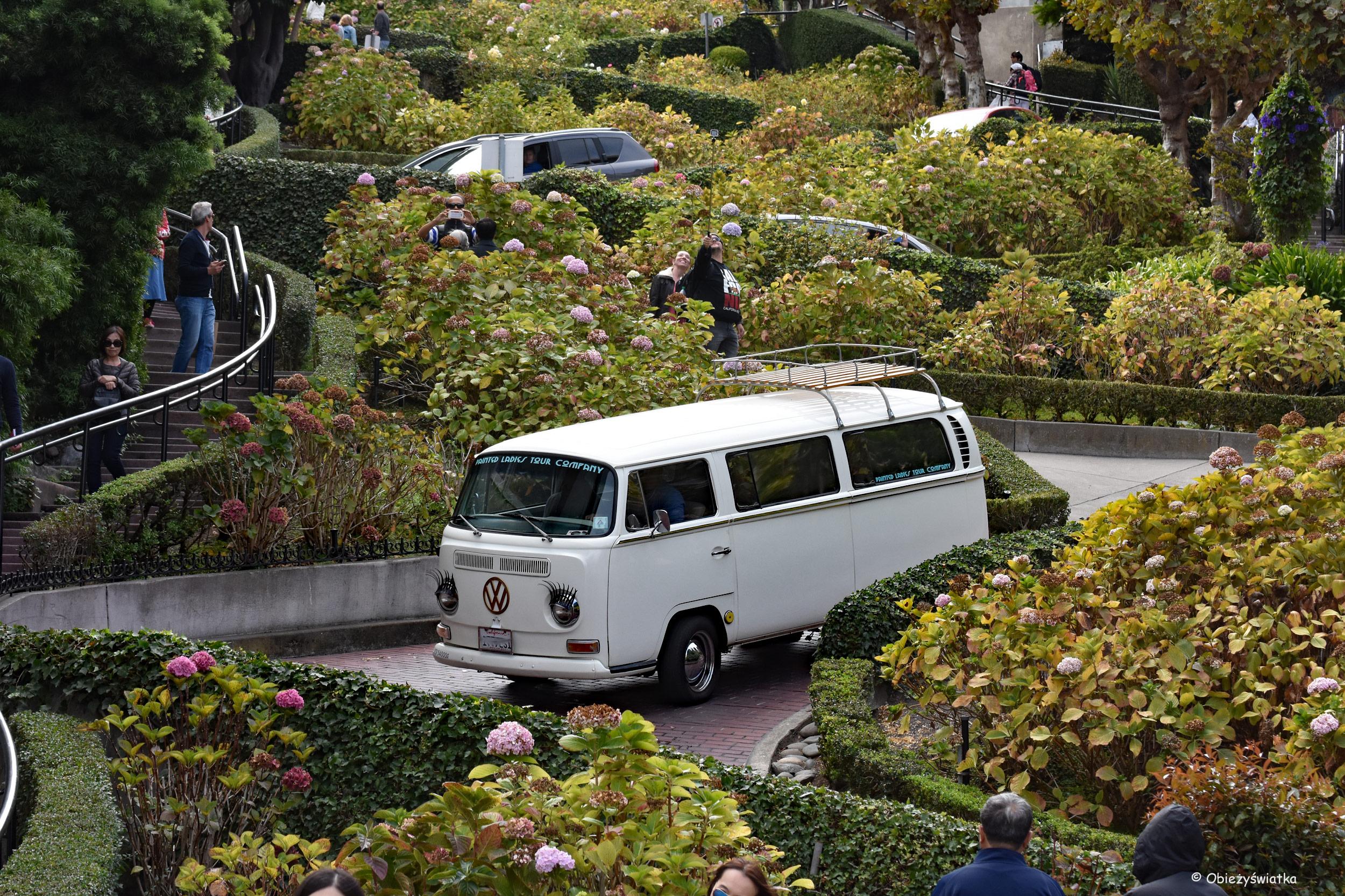 Jadąc Lombard Street....