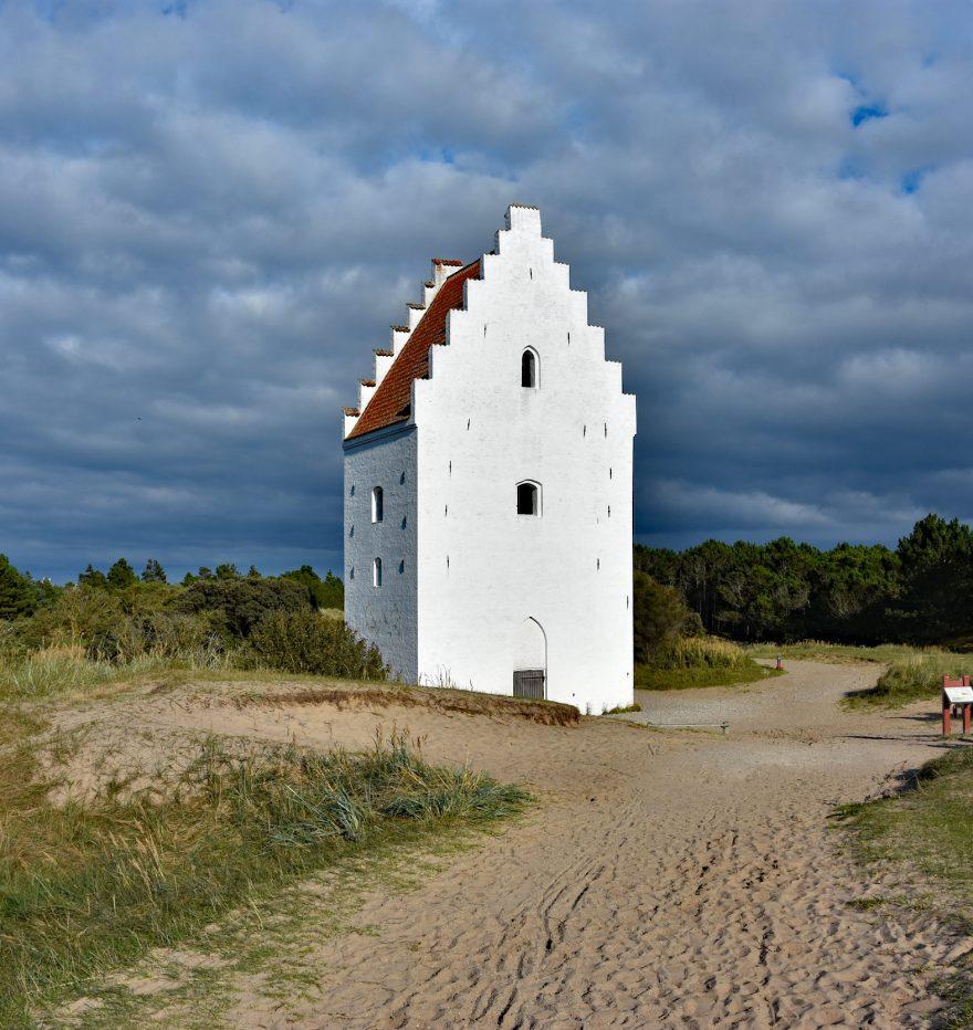 Zasypany kościół w Skagen