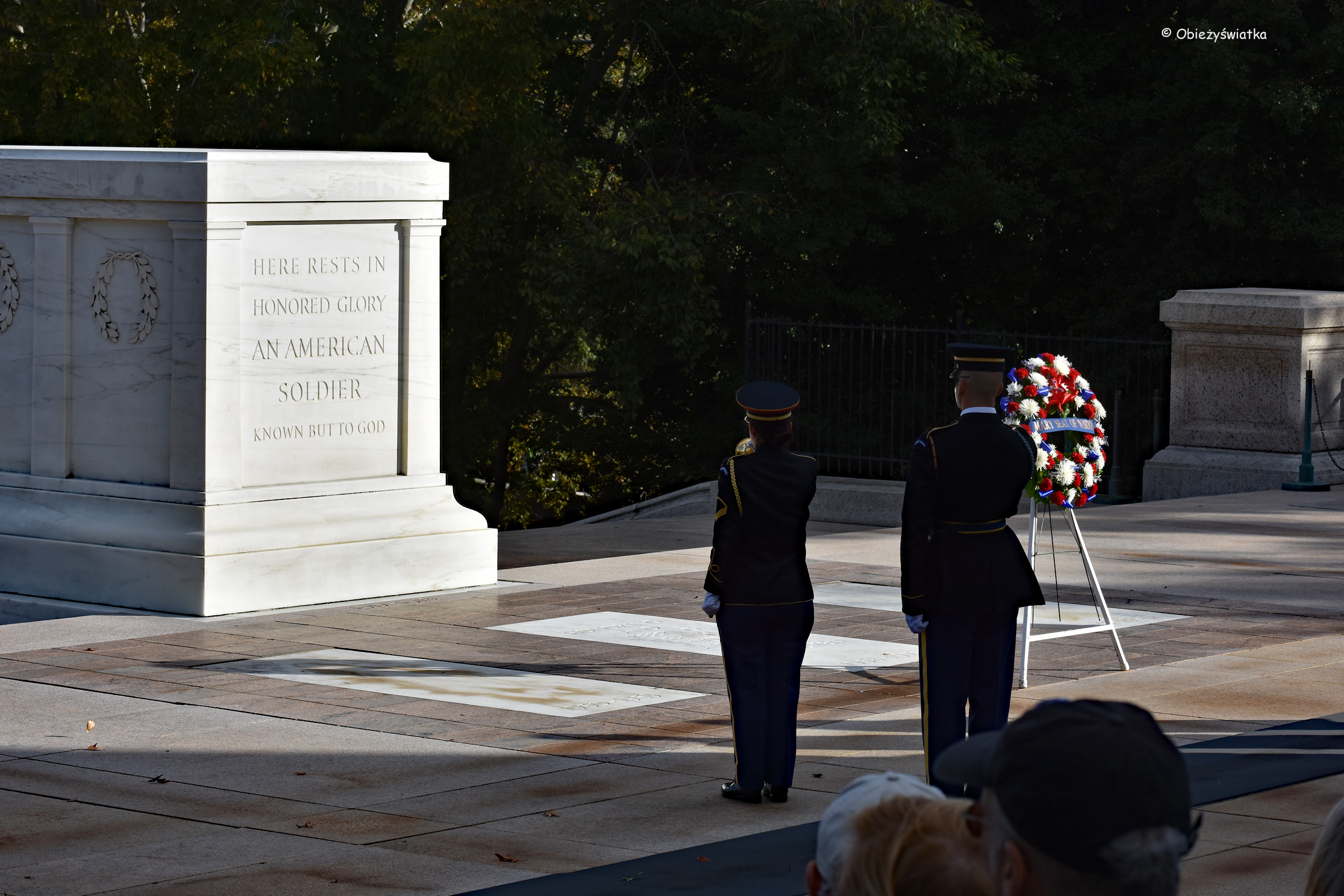 Grób Nieznanego Żołnierza - Cmentarz Narodowy w Arlington