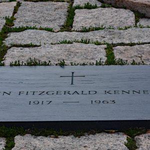Płyta nagrobna prezedenta Johns Fitzgeralda Kennedy'ego