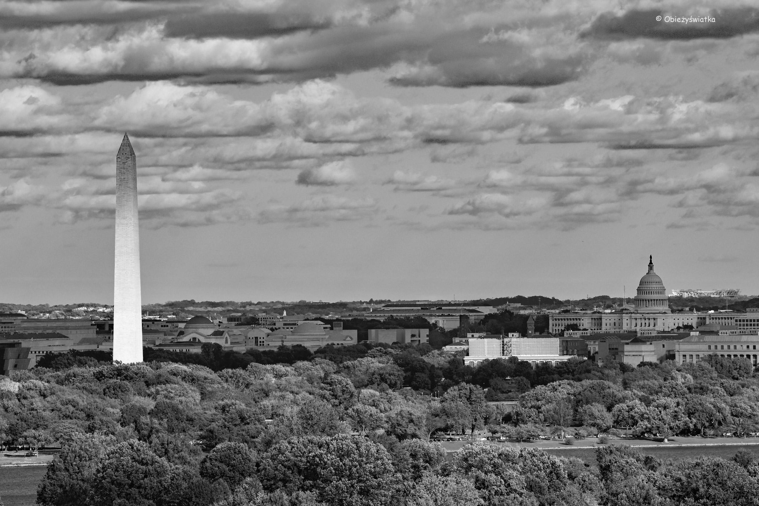 Washington, DC - widok z cmentarza w Arlington