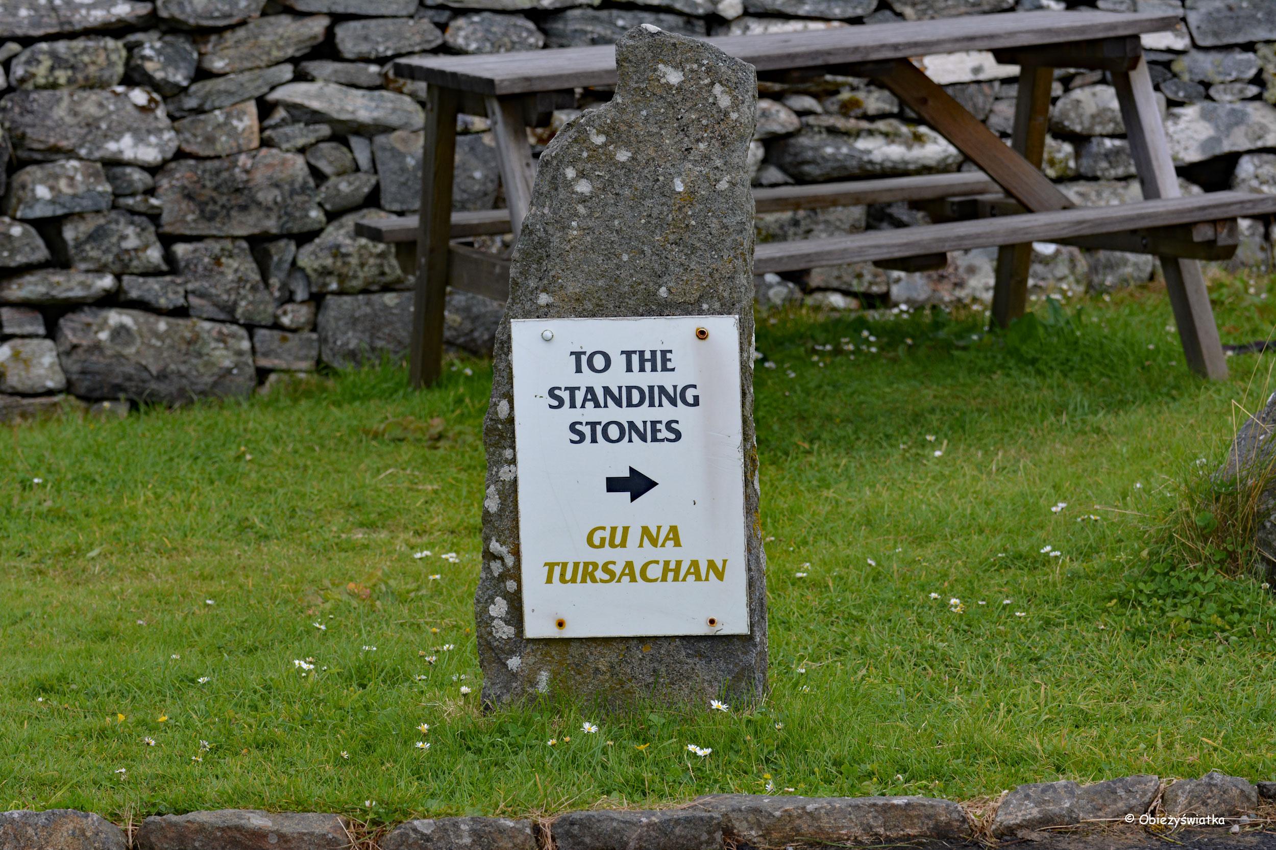 Droga do menhirów w Callanish
