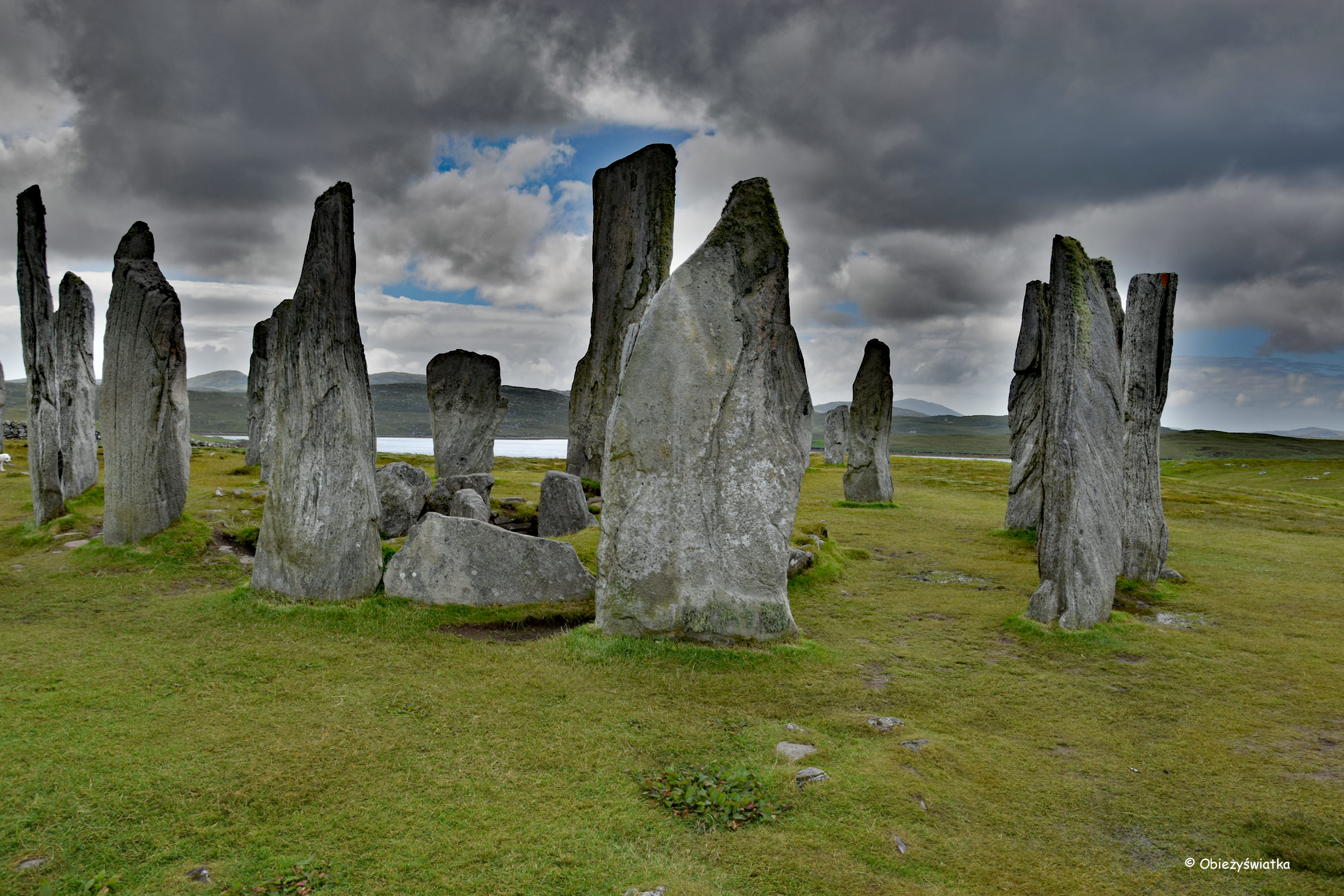 Kromlech / kamienny krąg, Callanish, Lewis and Harris