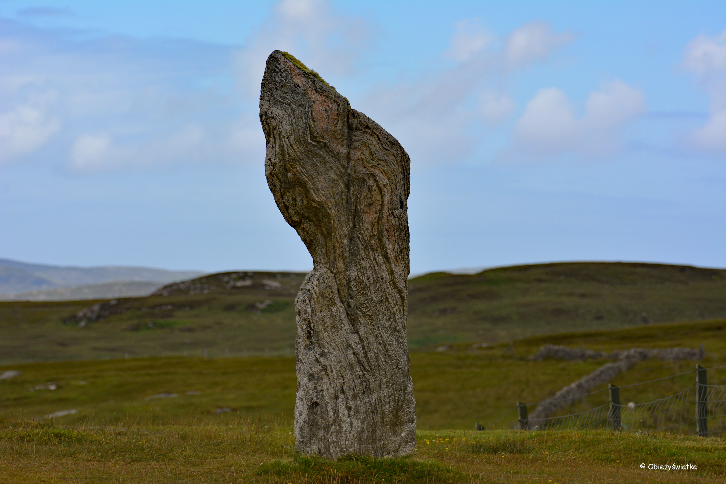 Menhir - Callanish/Calanais, Szkocja, Lewis and Harris