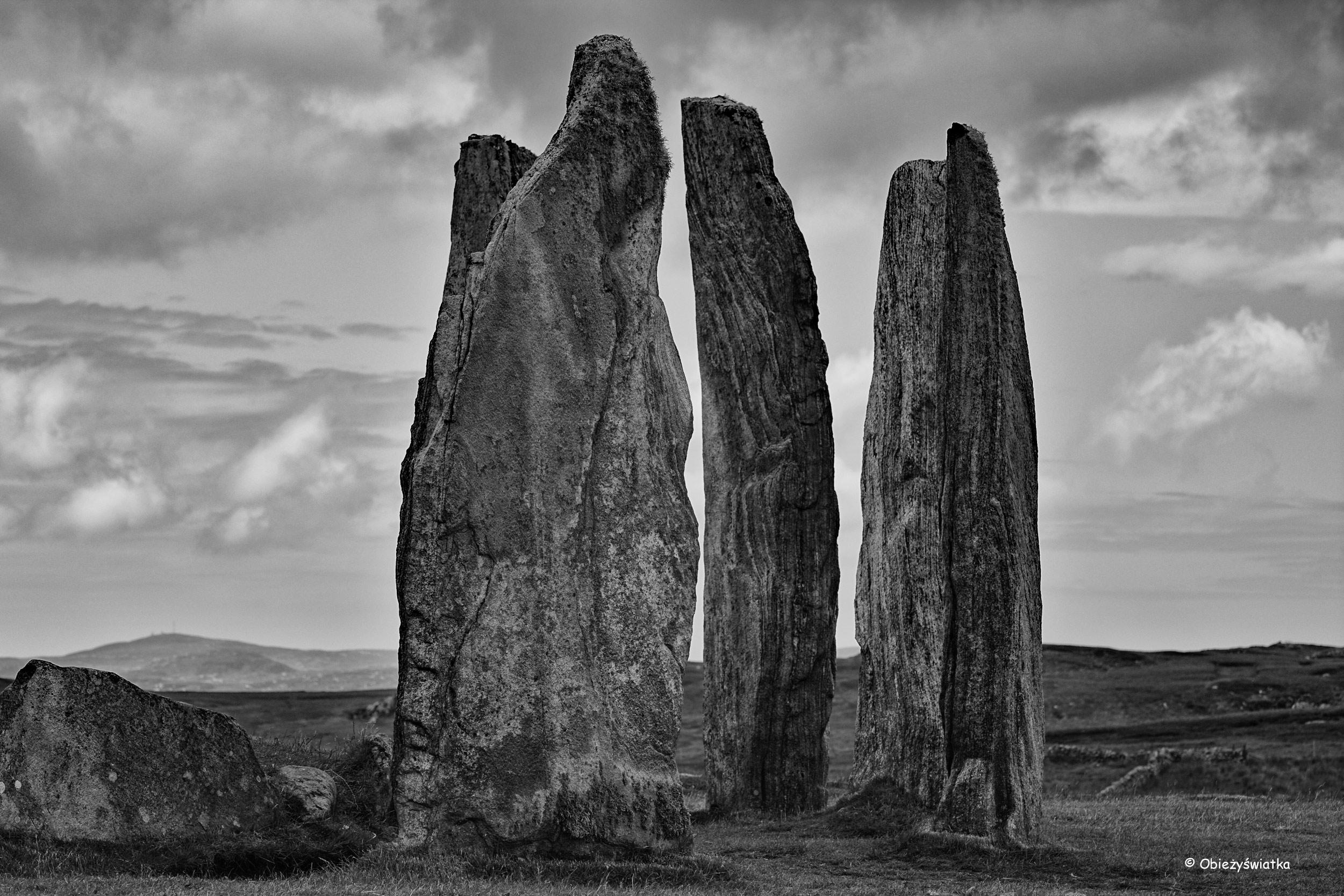 Tajemnicze megality w Callanish/Calanais, Szkocja, Lewis and Harris