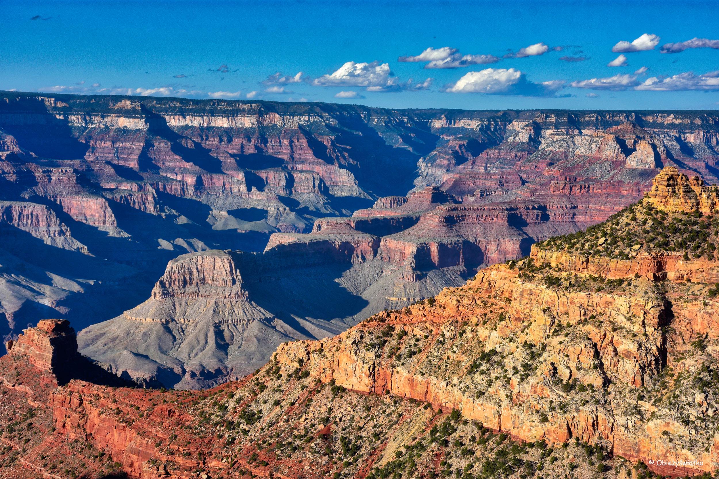 W promieniach zachodzącego słońca - Grand Canyon National Park, Arizona, USA