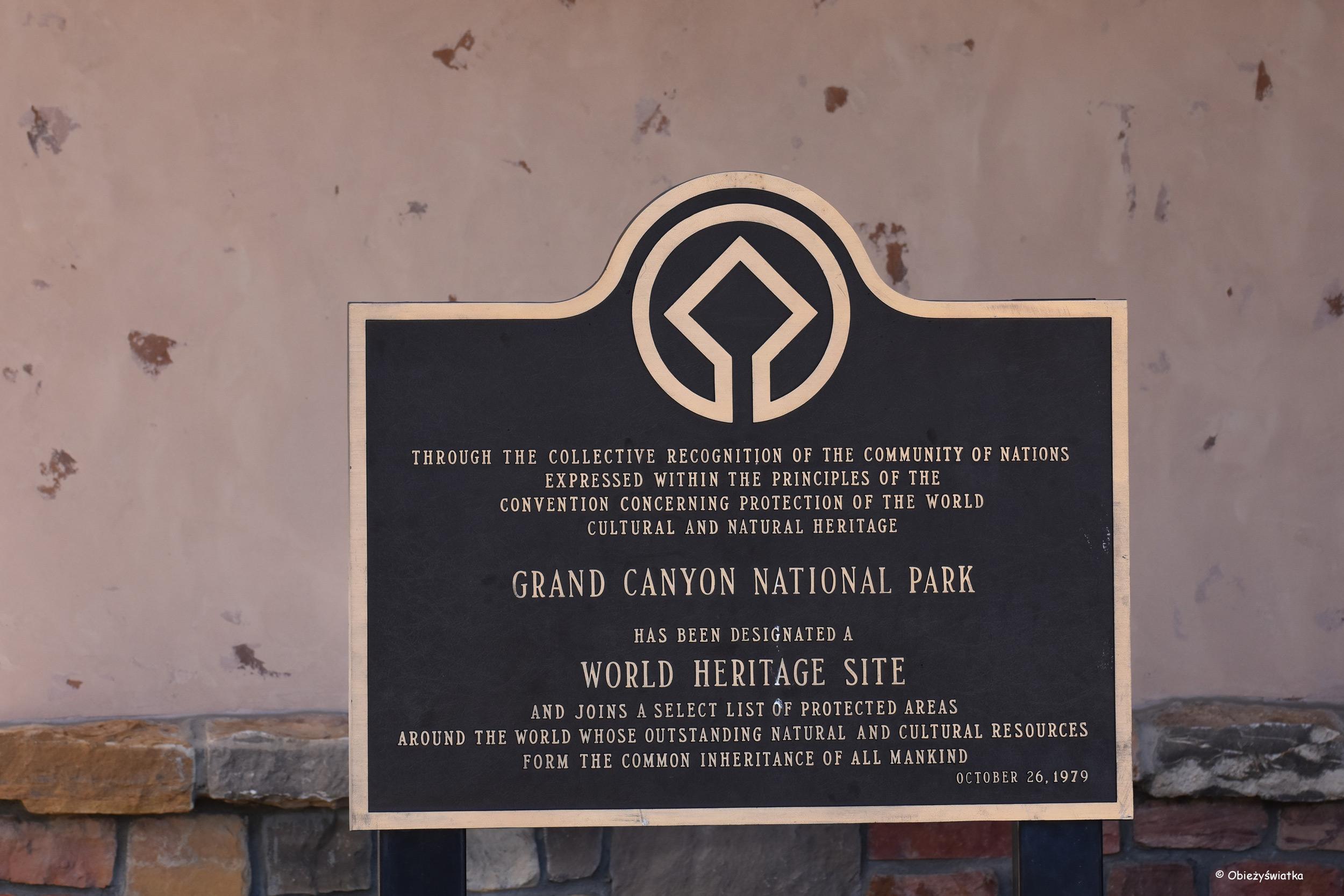 Grand Canyon National Park, Arizona, USA - od 1979 roku na liście UNESCO