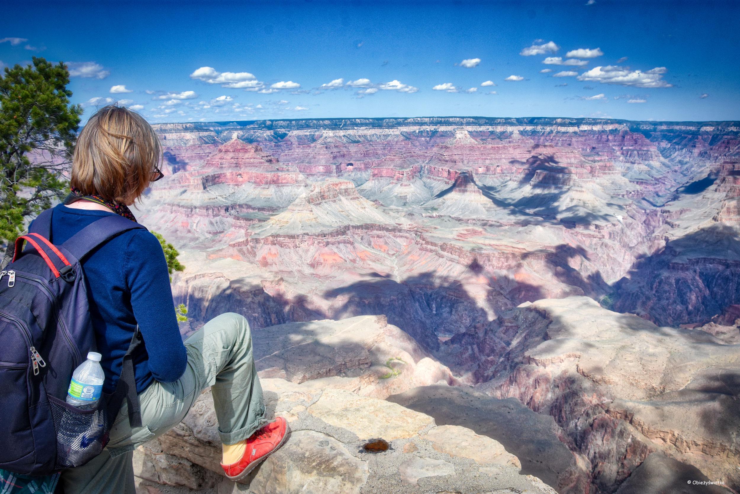 Patrząc na Wielki Kanion - Grand Canyon National Park, Arizona, USA