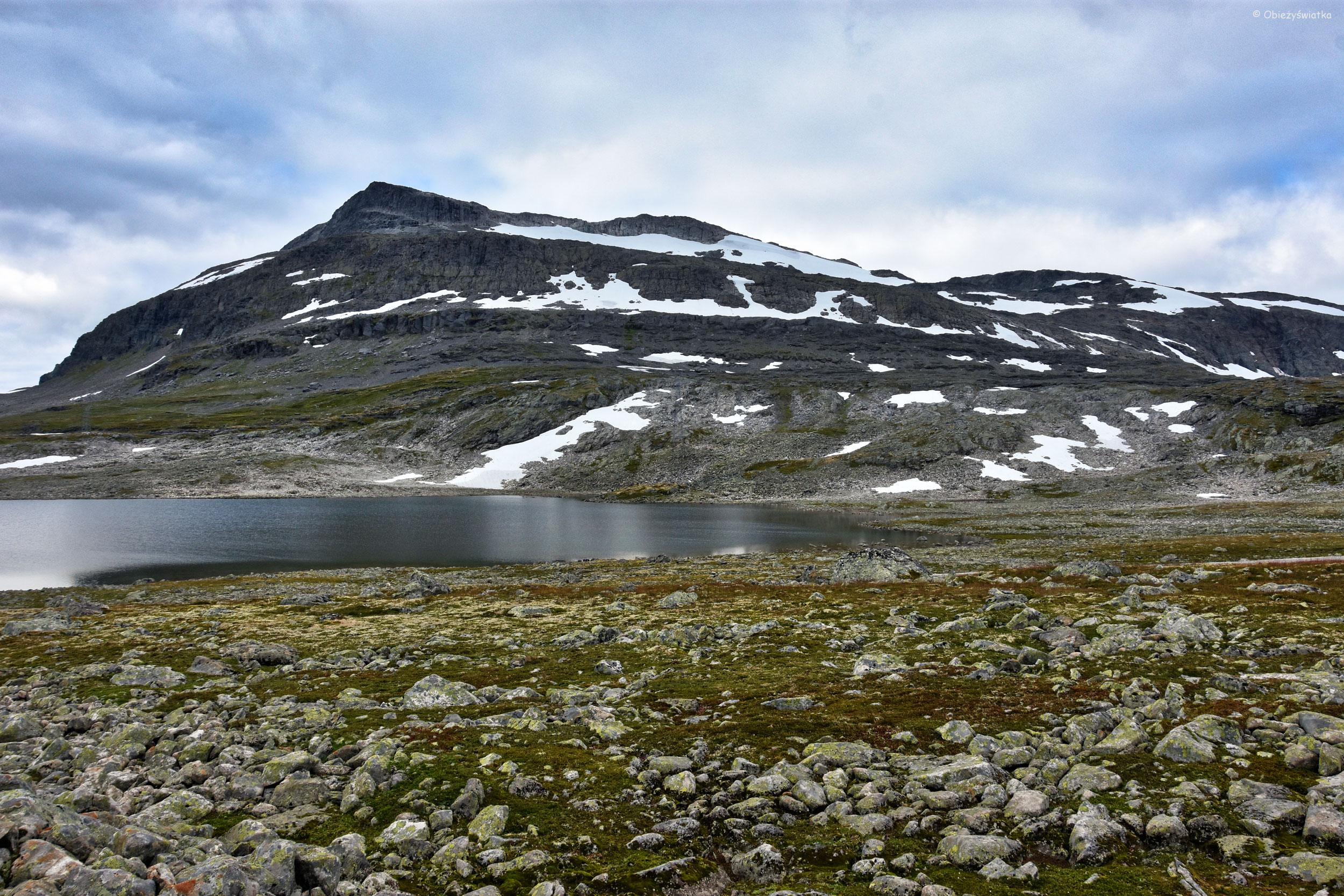 Typowy krajobraz Aurlandsfjellet, Norwegia