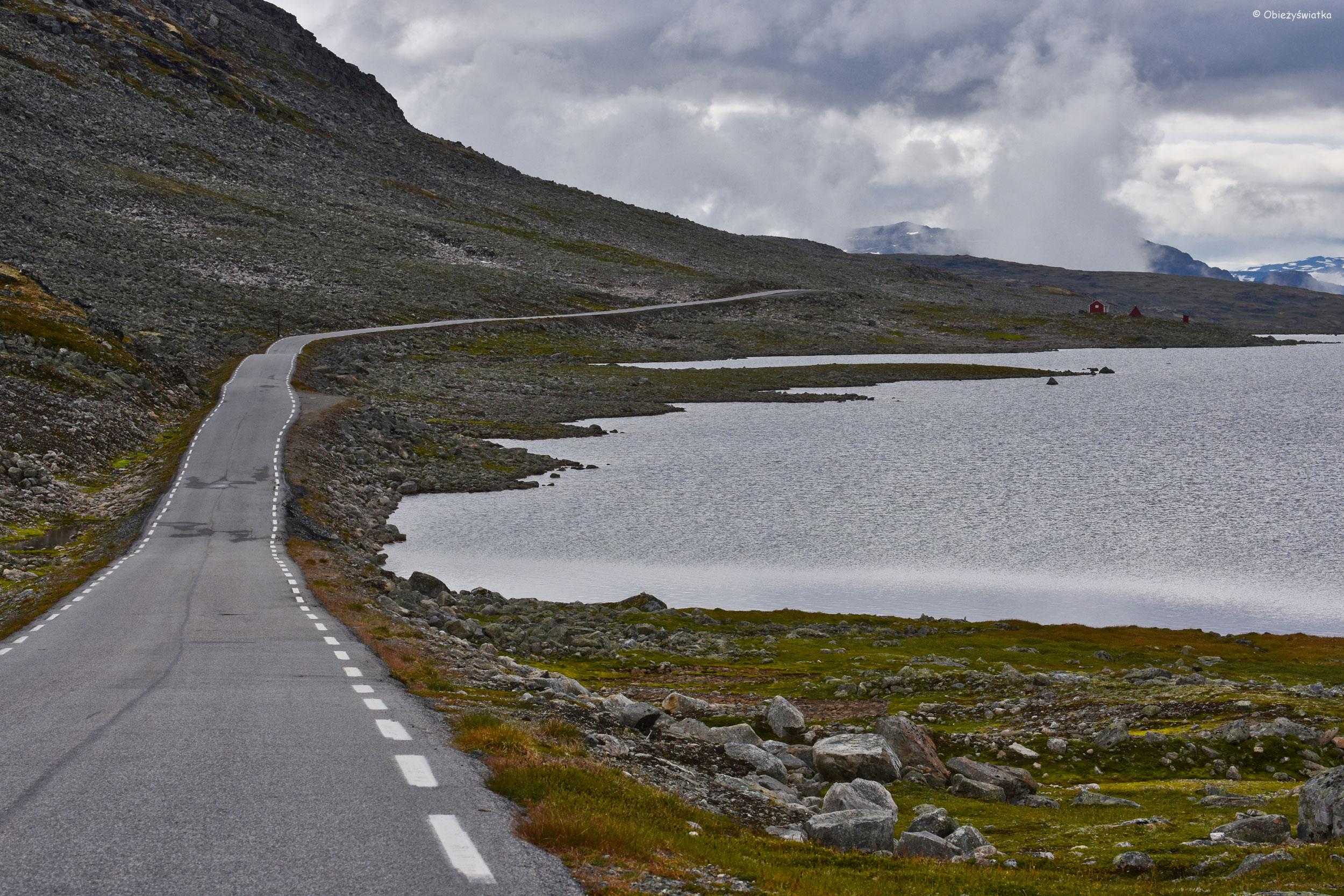 W drodze przez Aurlandsfjellet, Norwegia