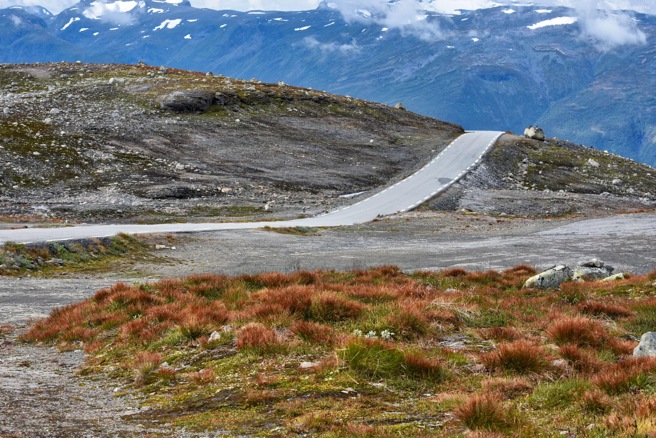 Samotne drogi, Aurlandsfjellet, Norwegia