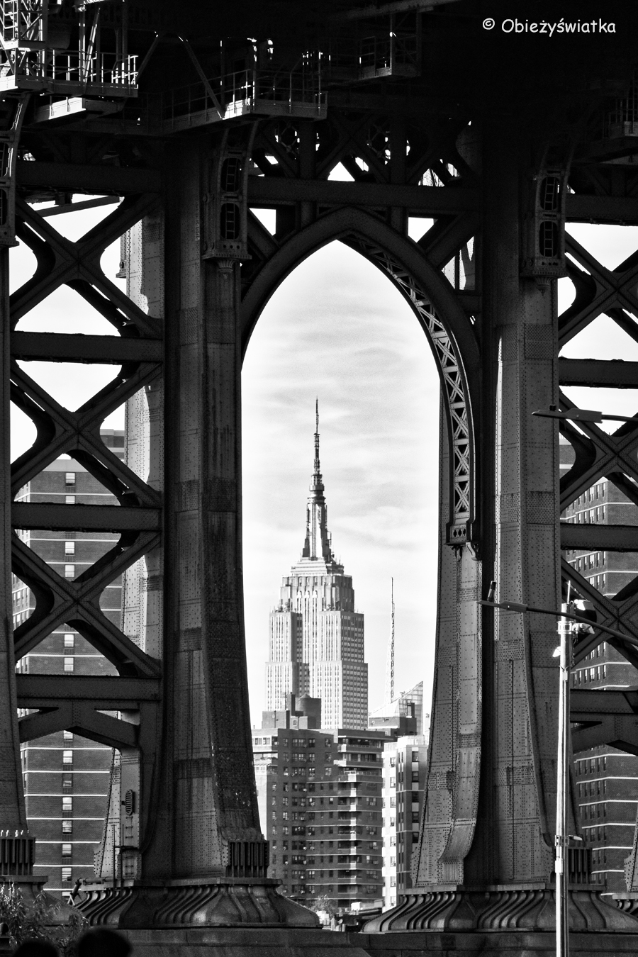 Manhattan Bridge i Empire State Building