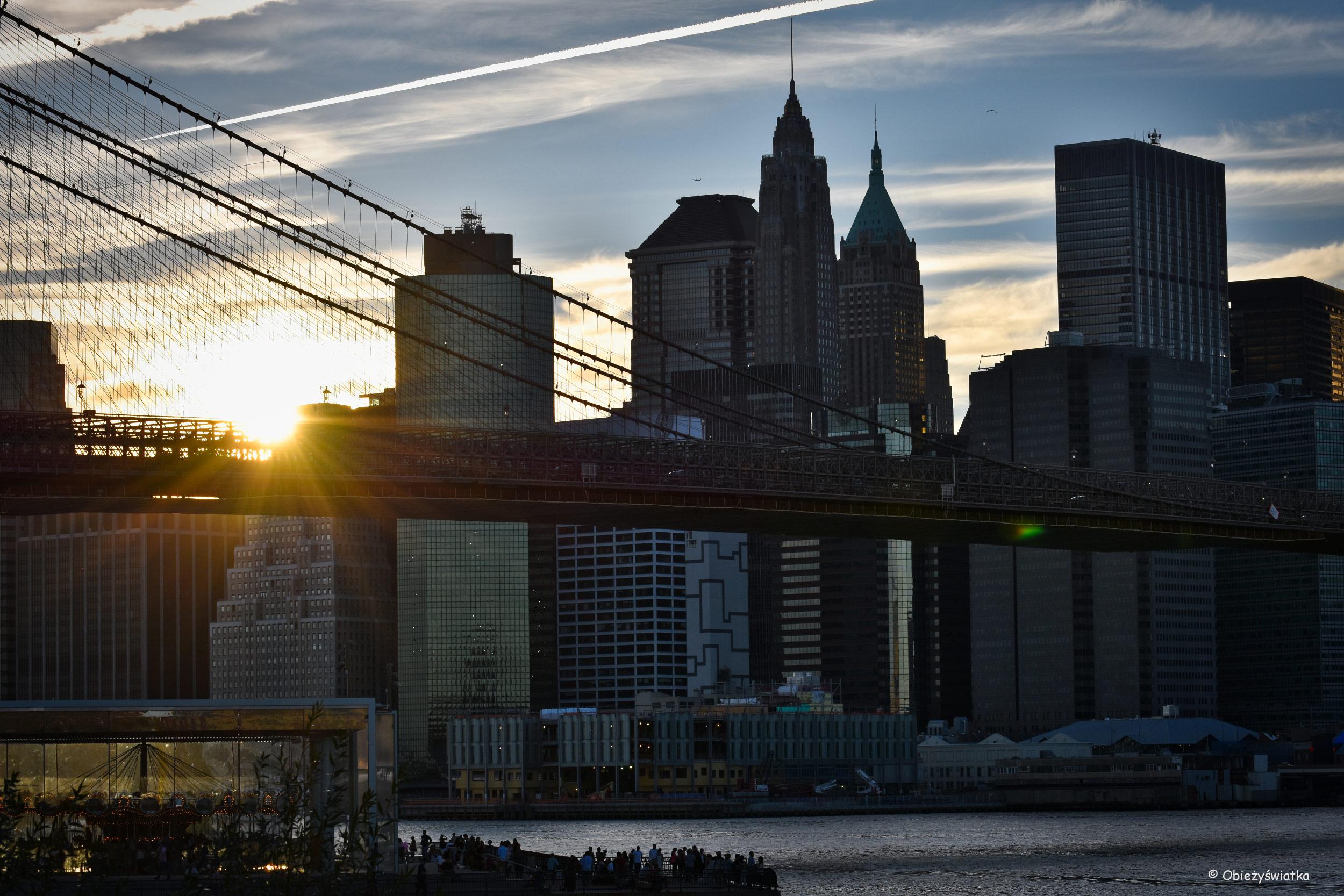 Zachód słońca na Manhattanie, NYC