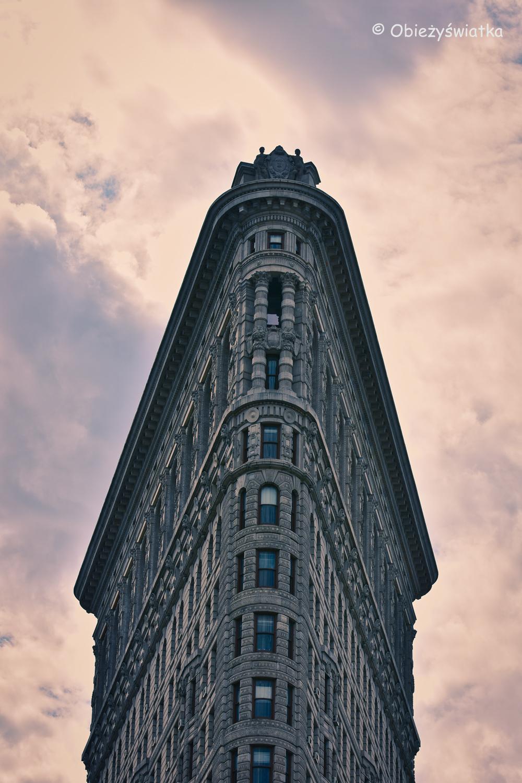 Flatiron Building w zbliżeniu, Nowy Jork