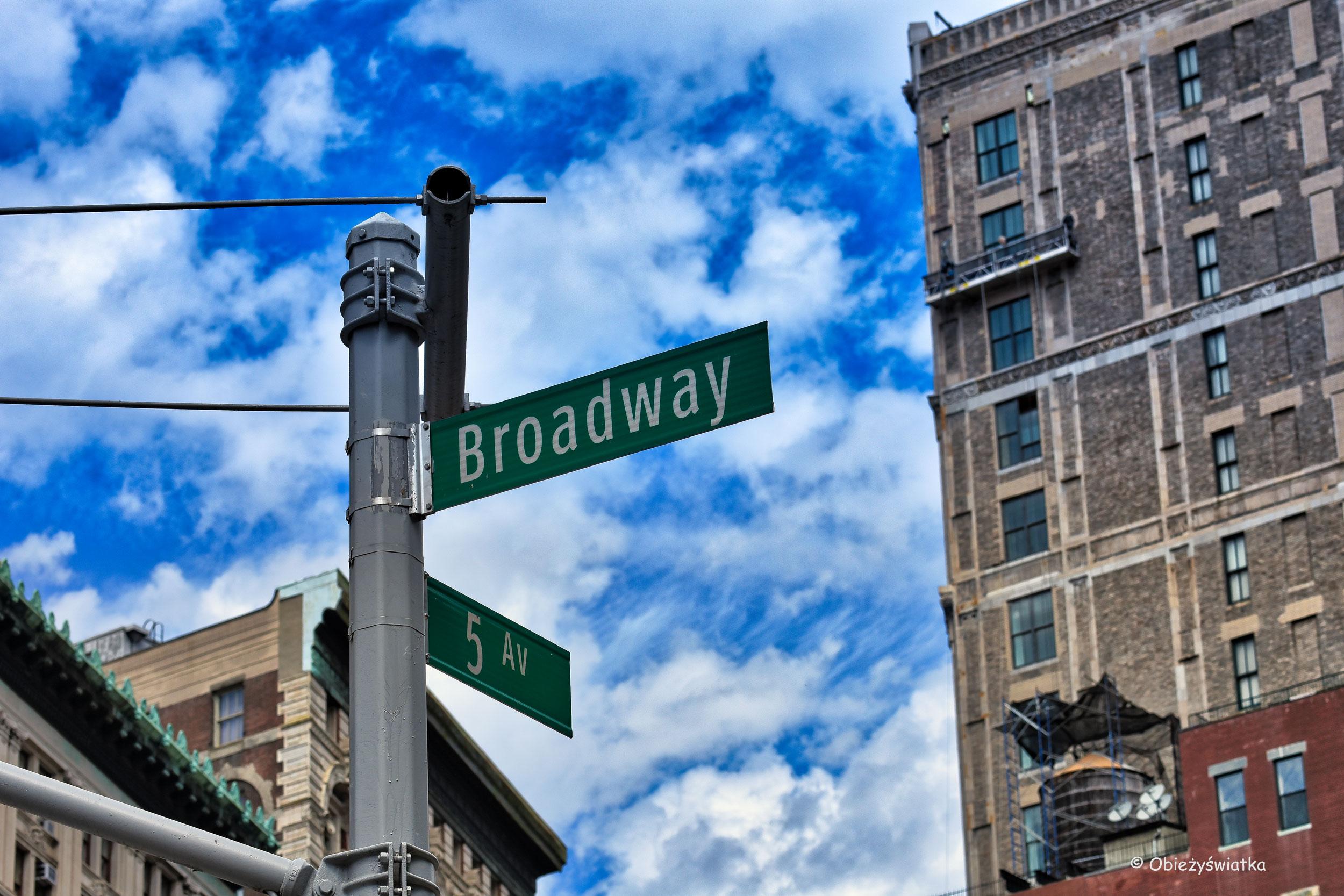 Zbieg ulicy Broadway i 5 Alei, Nowy Jork