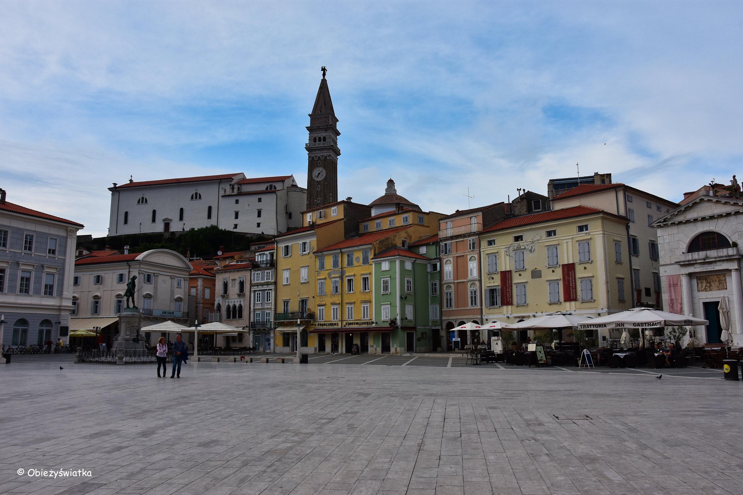 Piazza Tartini - główny plac miasta, Piran, Słowenia