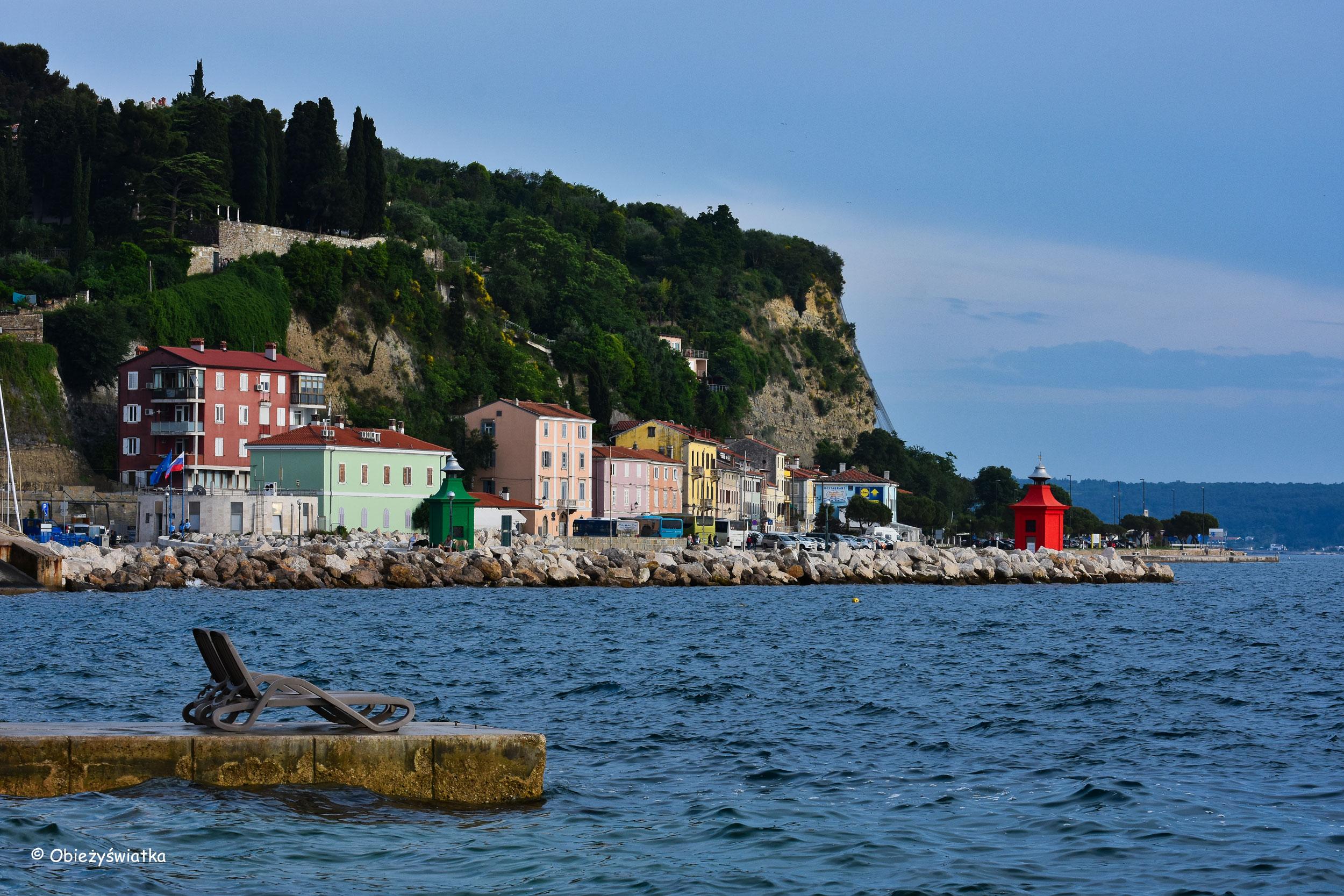 Piran - widok na wybrzeże Adriatyku