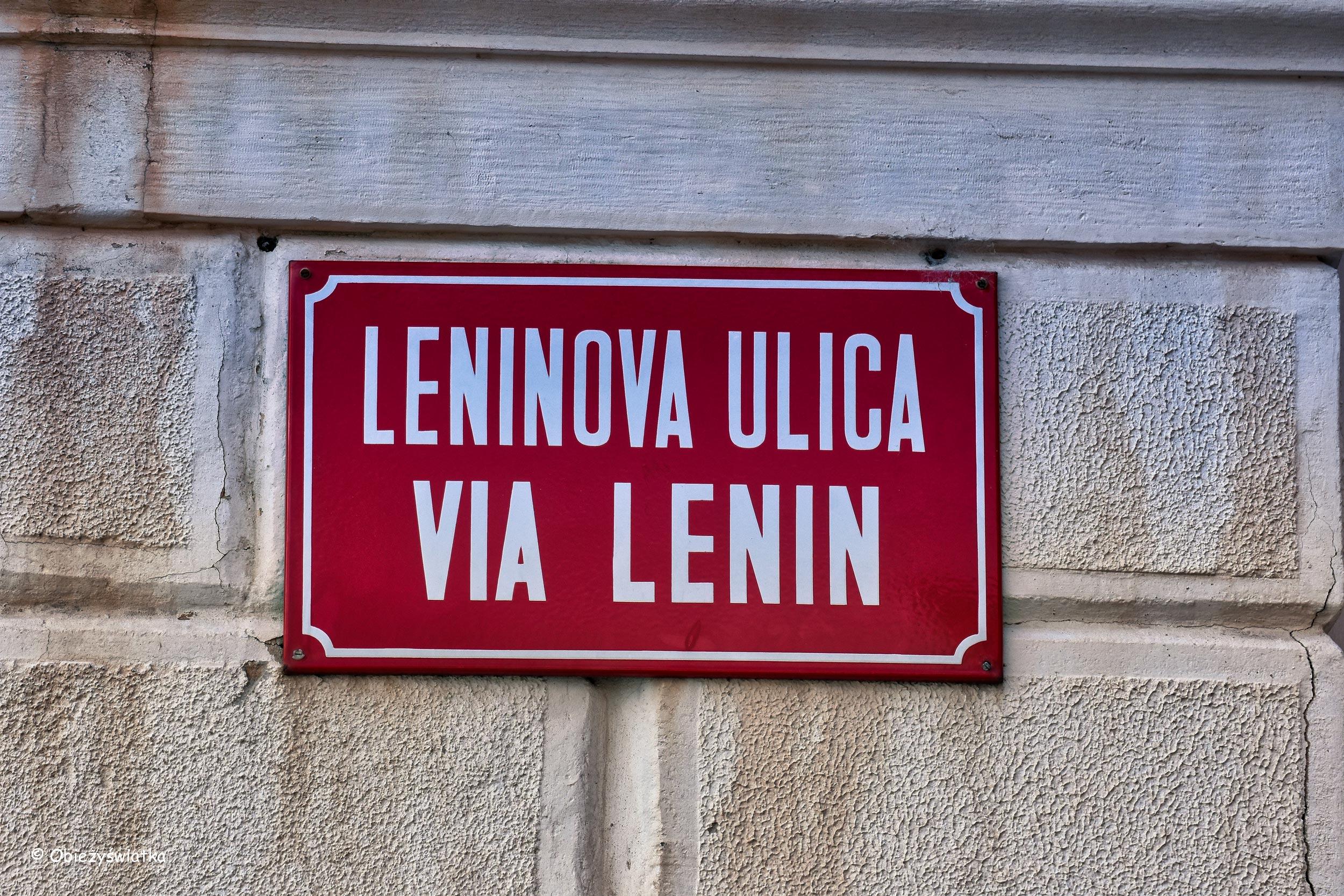 ulica Lenina, Piran, Słowenia