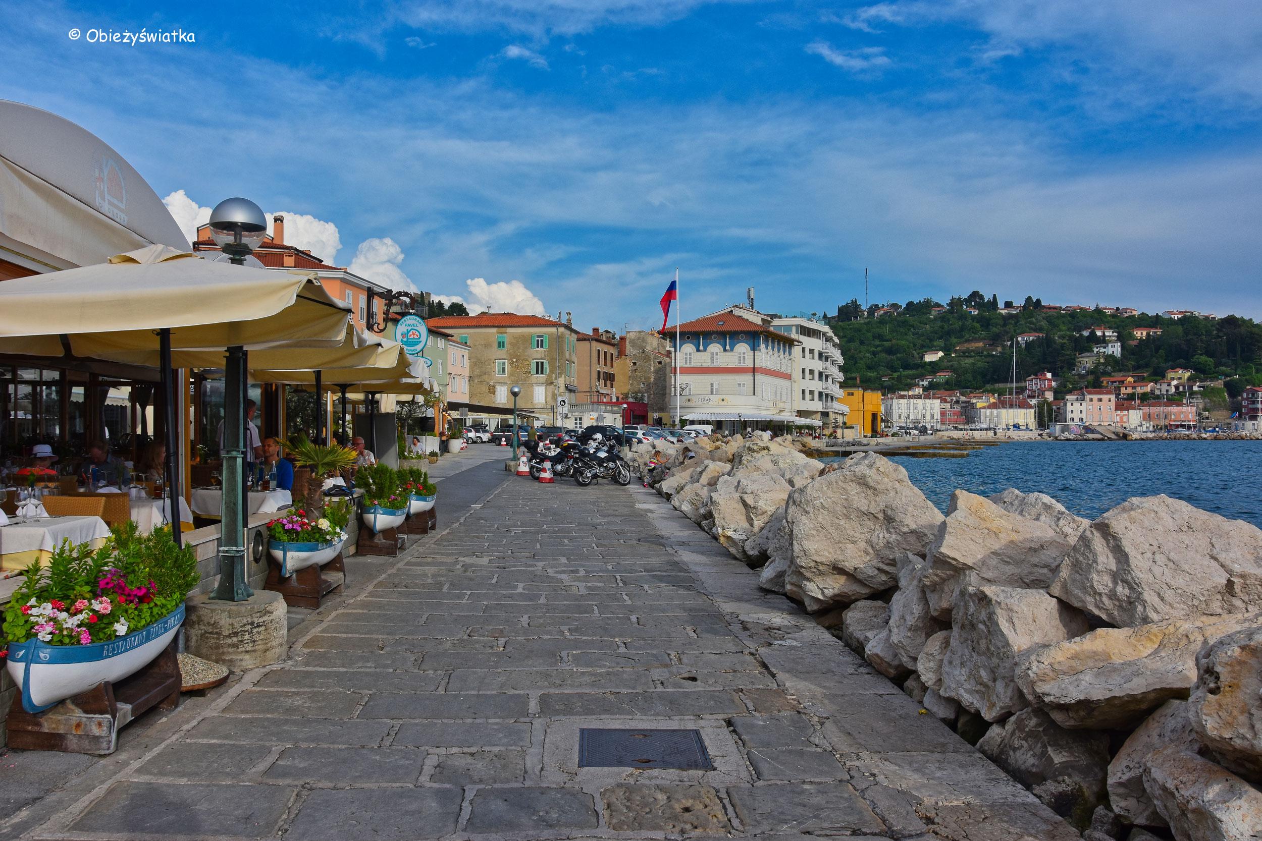 Nadmorska promenada w Piranie, Słowenia