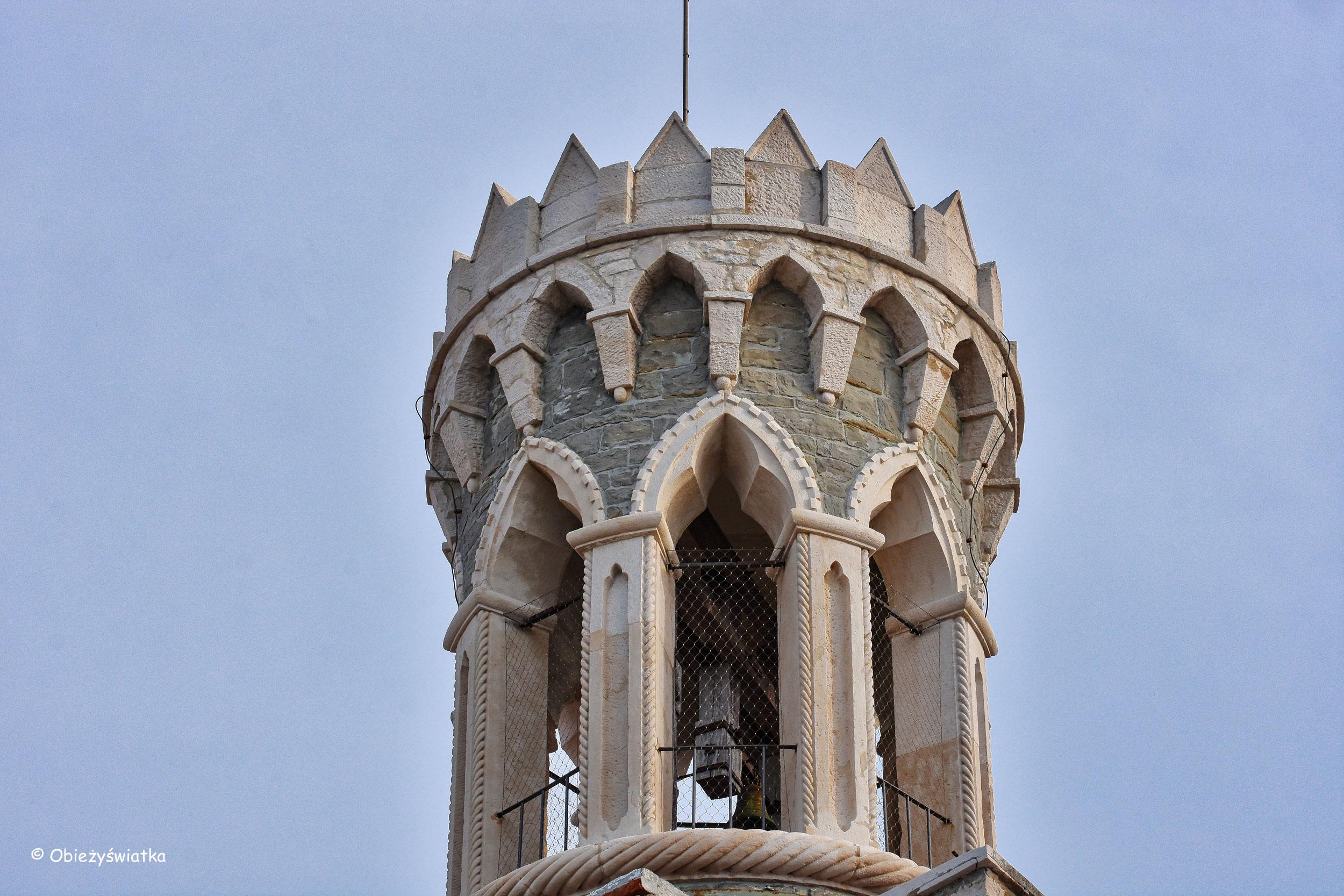 Wieża kościółka Madonna della Salute w Piranie
