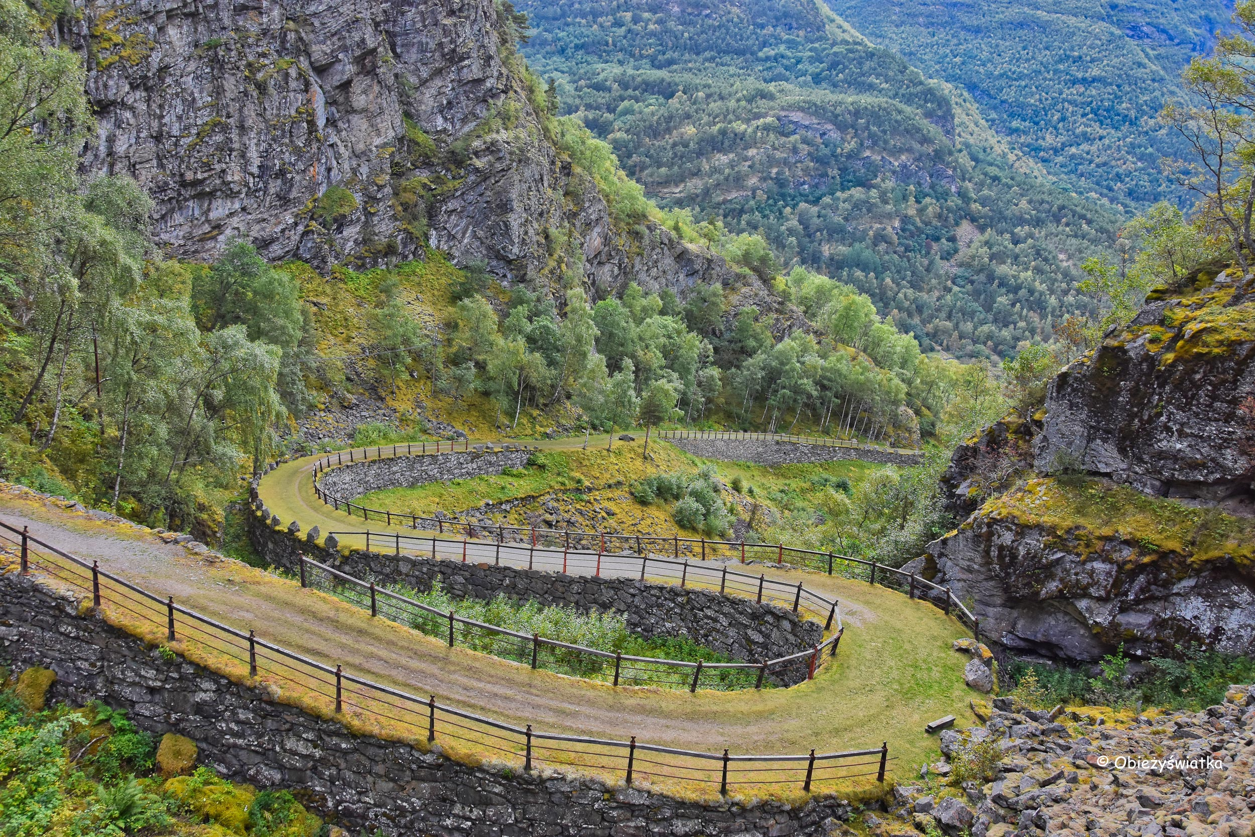 Kręta Vindhellavegen, Norwegia